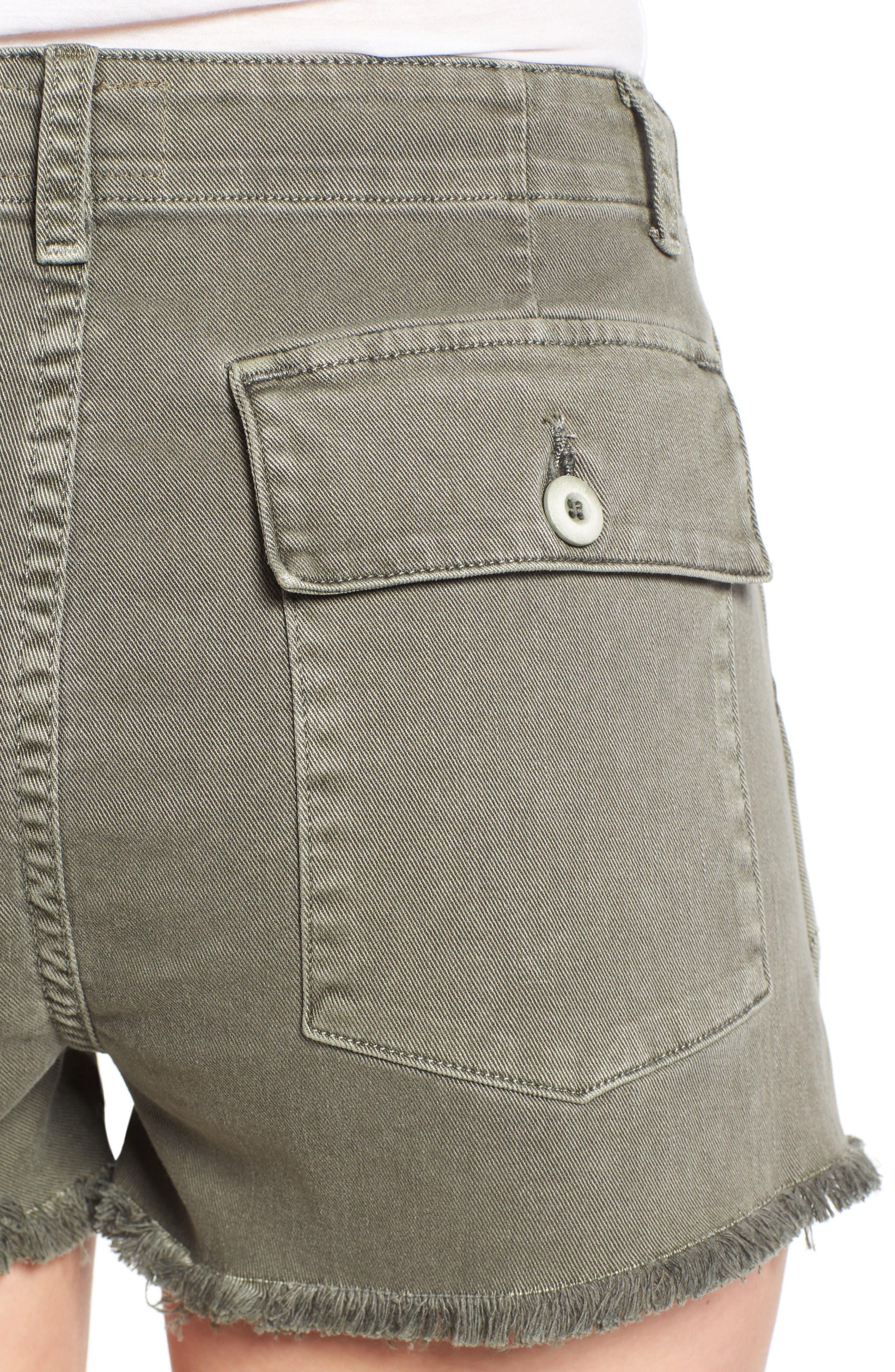 Alternate Image 4  - Hudson Jeans MKA Military High Waist Shorts