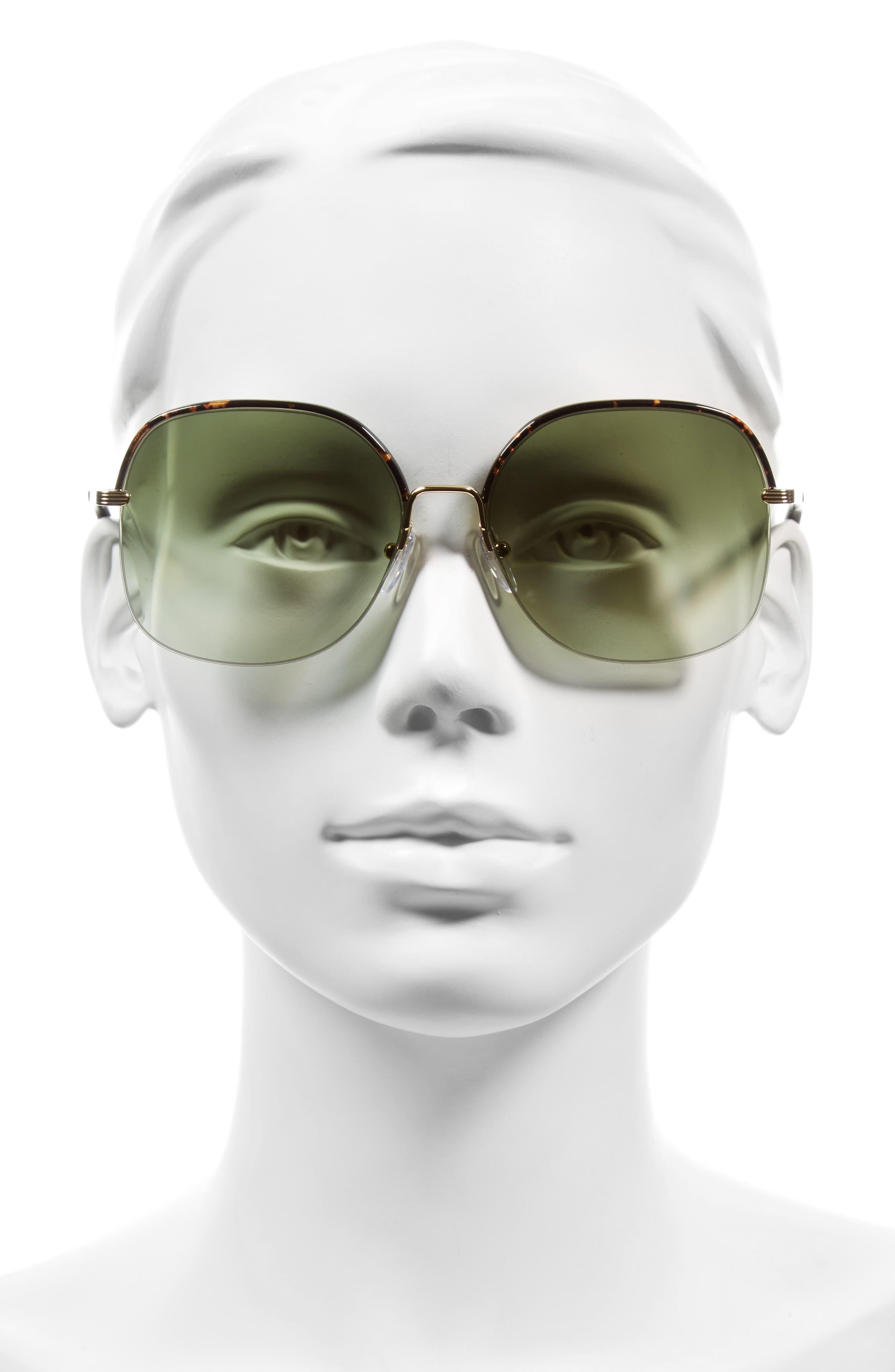 Alternate Image 2  - Victoria Beckham Windsor 60mm Gradient Lens Square Sunglasses