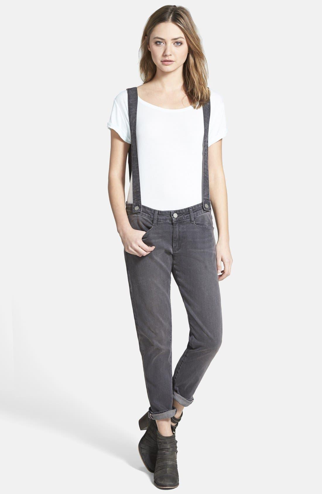 Main Image - Paige Denim 'Phillipa' Boyfriend Jeans with Suspenders (Rudy)