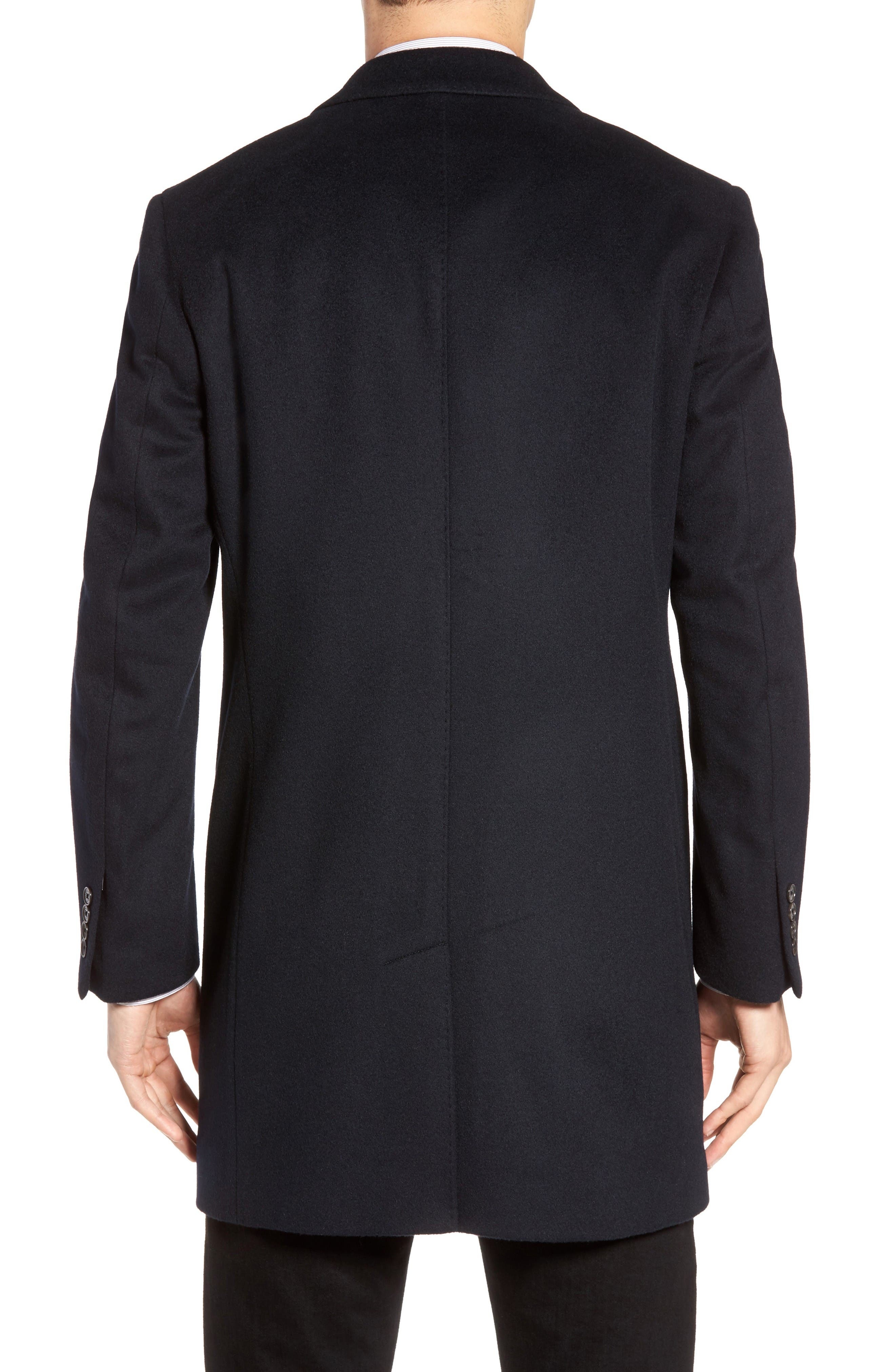 St. Paul Wool & Cashmere Topcoat,                             Alternate thumbnail 2, color,                             Navy