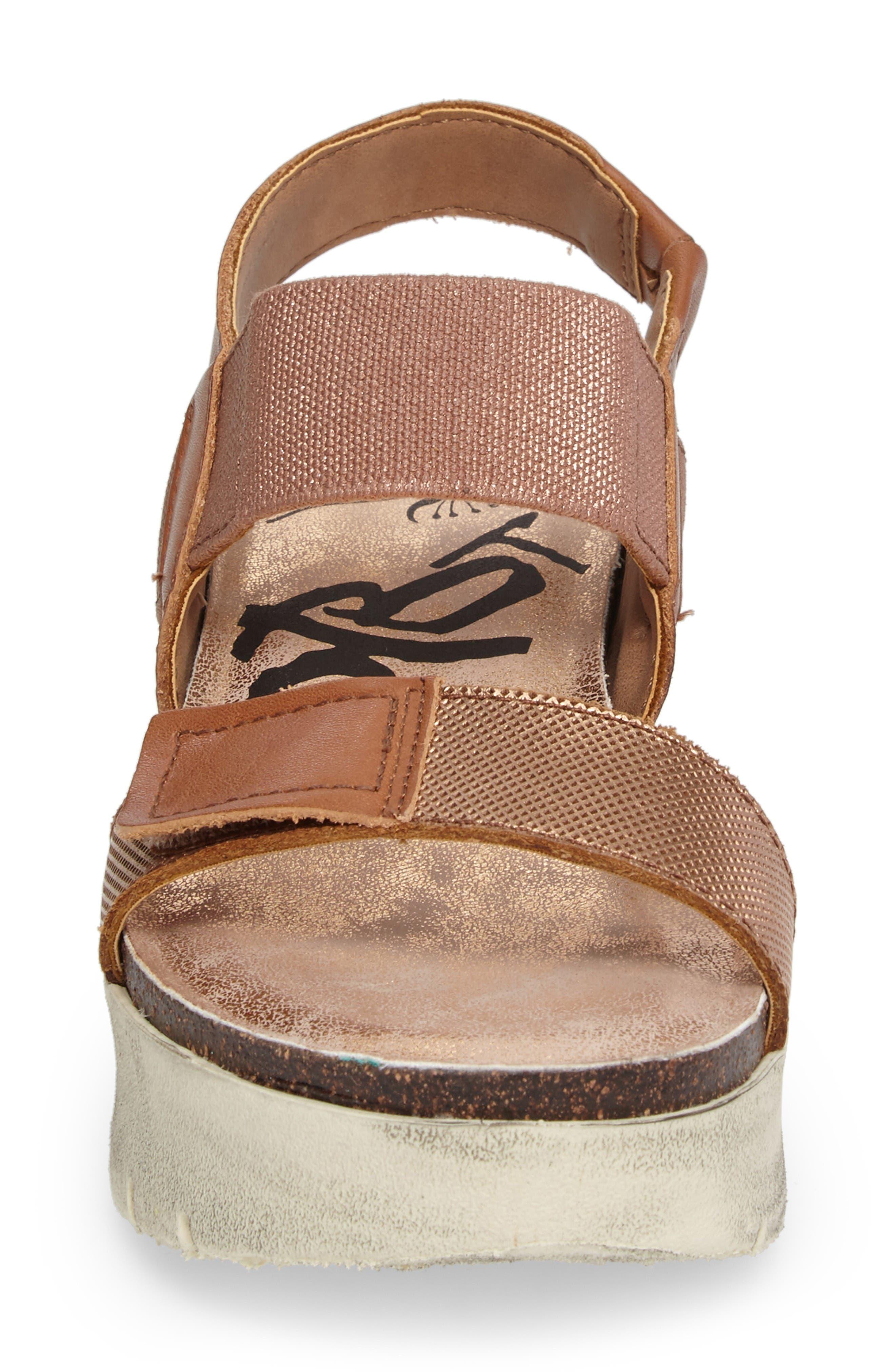 Nova Platform Sandal,                             Alternate thumbnail 4, color,                             Copper Leather