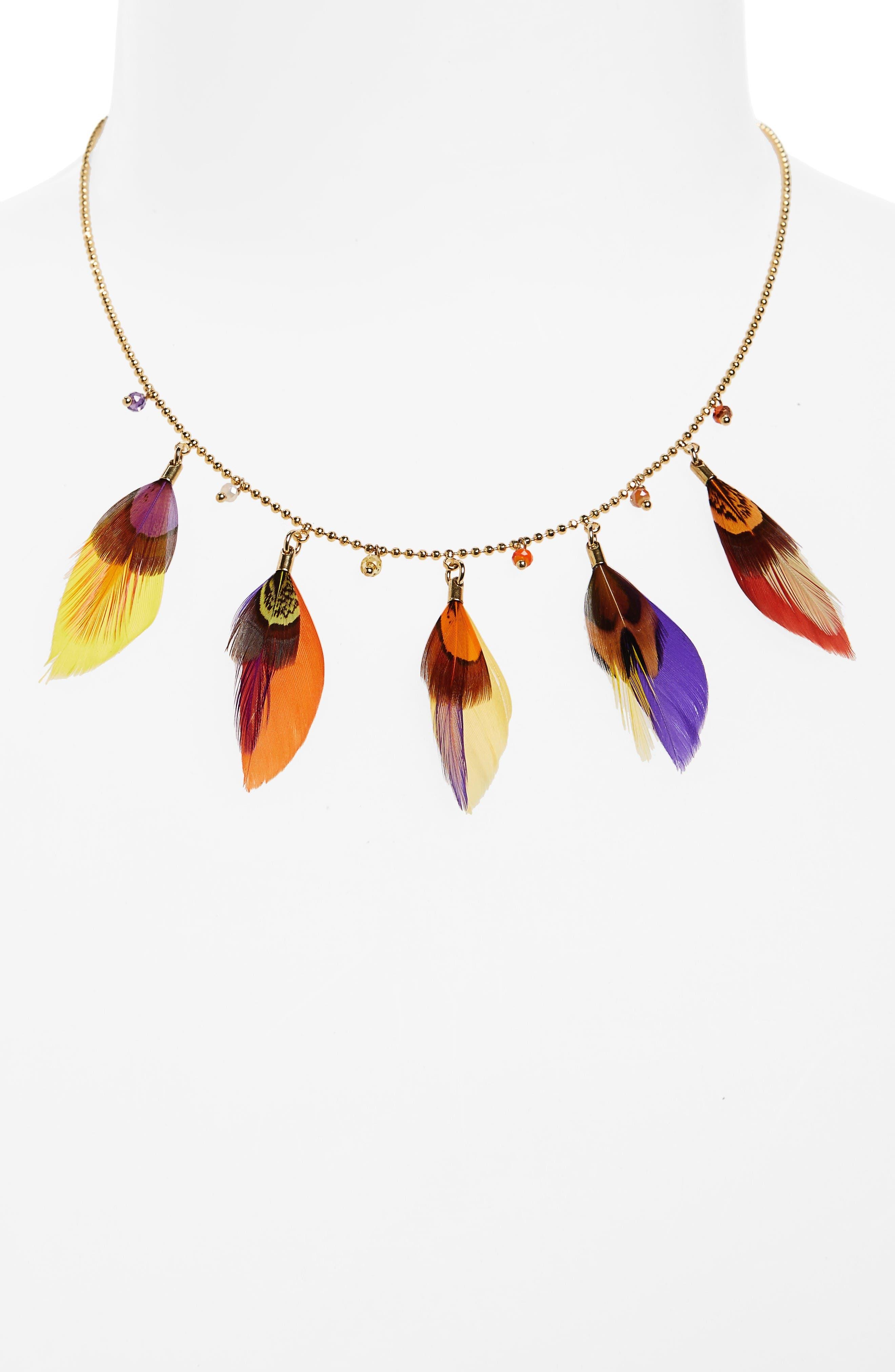 Gas Bijoux Feather Necklace