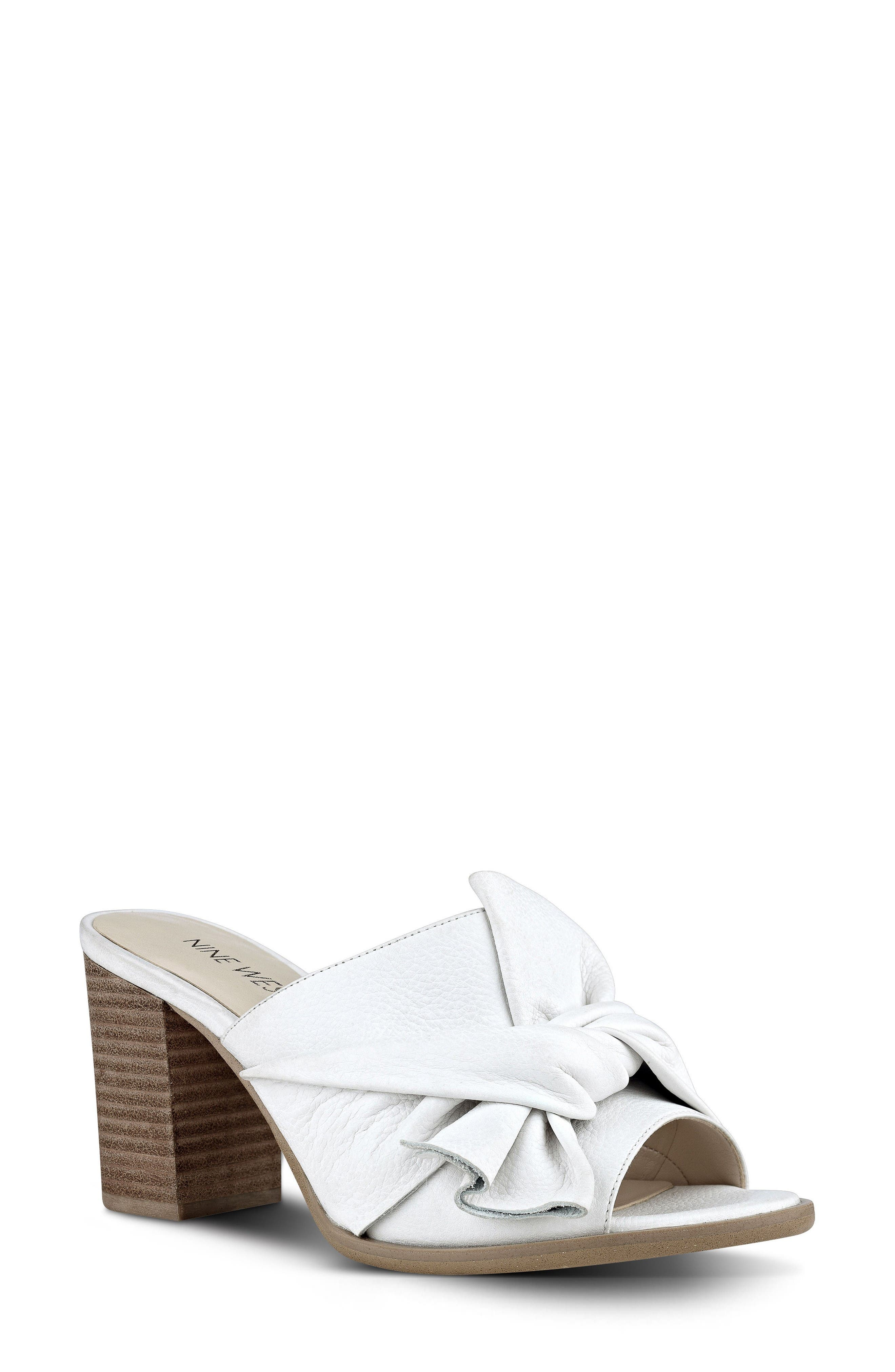 Byron Mule,                             Main thumbnail 1, color,                             White Leather