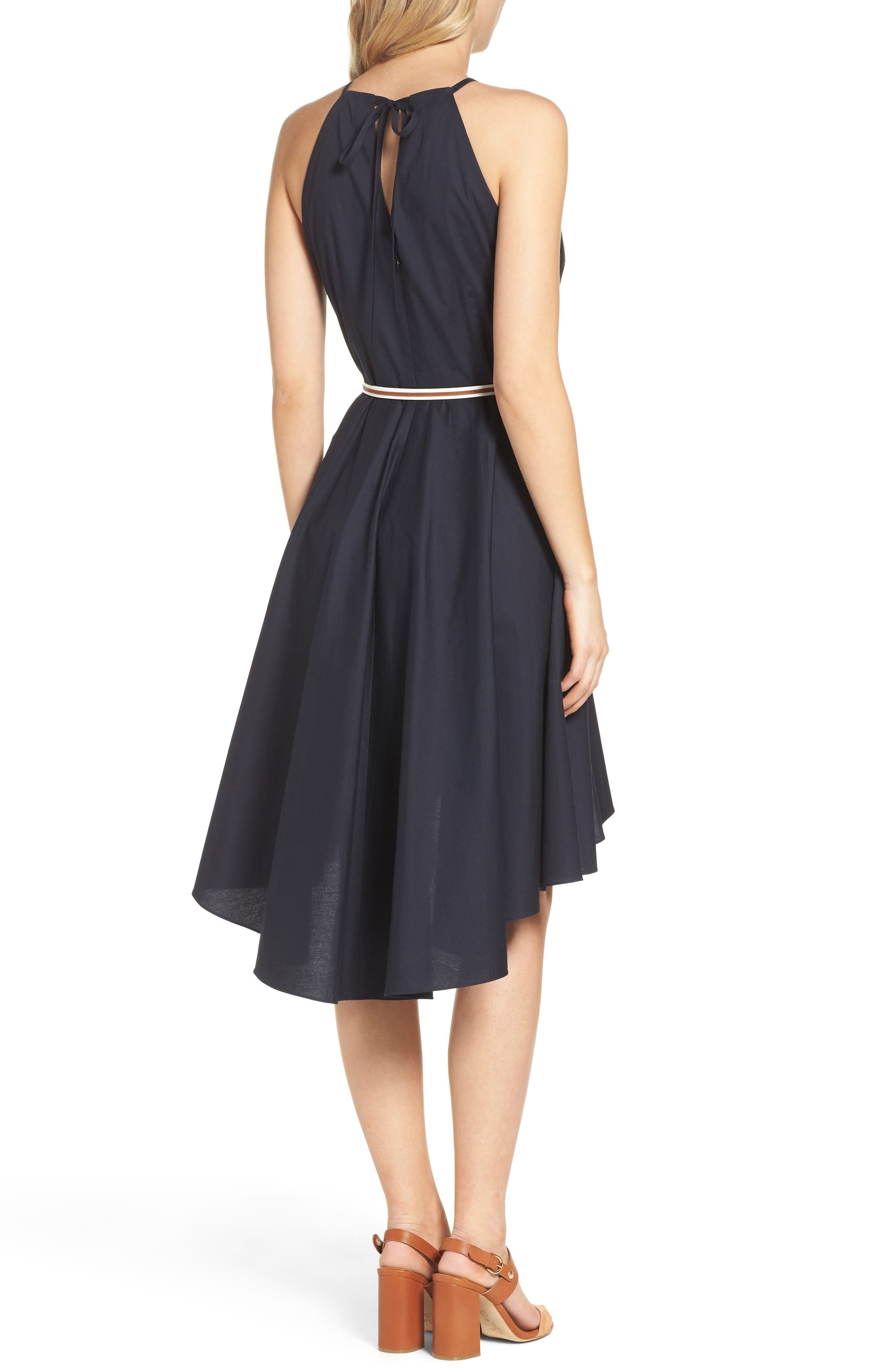High/Low Dress,                             Alternate thumbnail 2, color,                             Navy