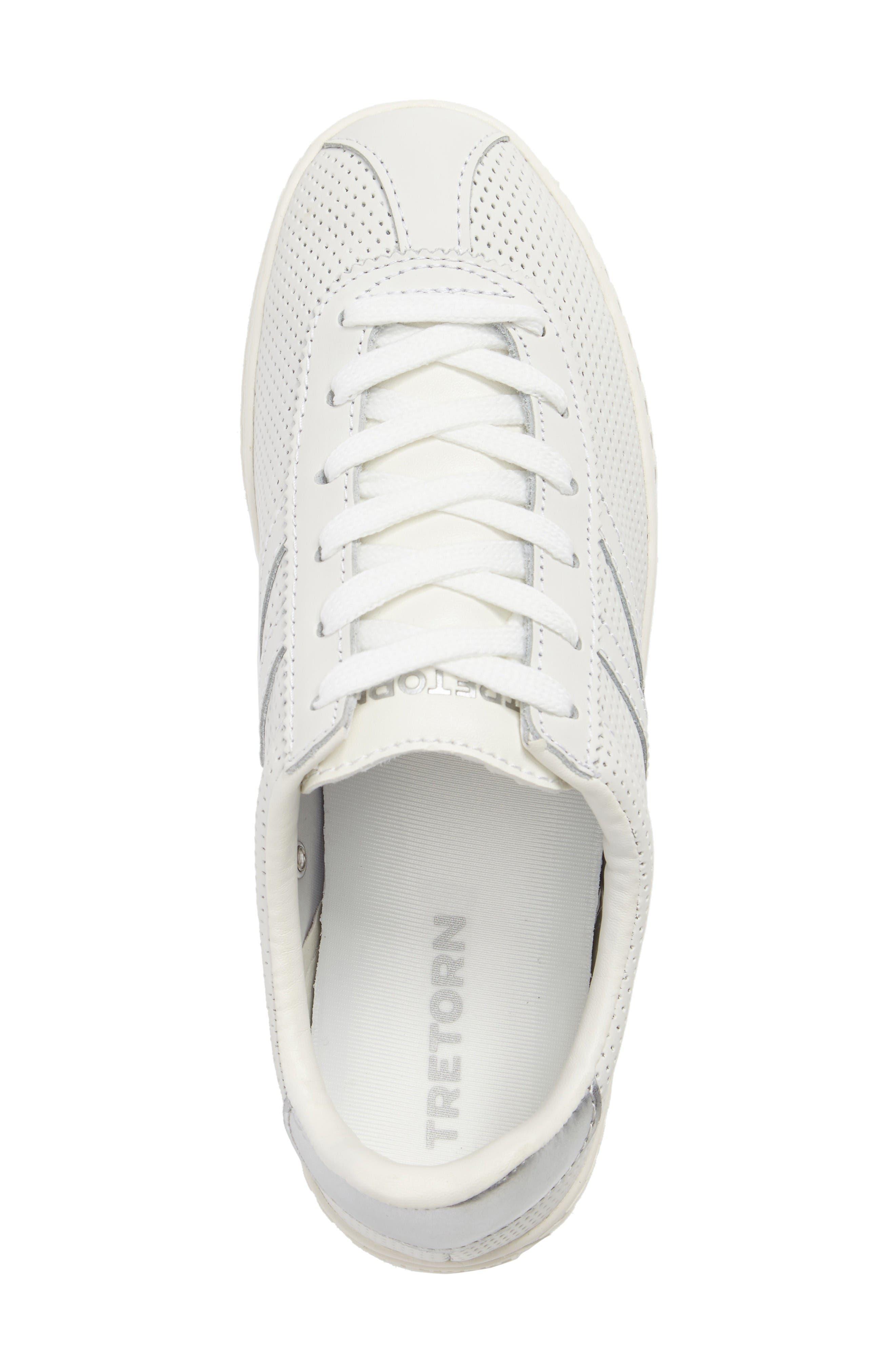 Camden 2 Sneaker,                             Alternate thumbnail 5, color,                             White/ White/ Silver