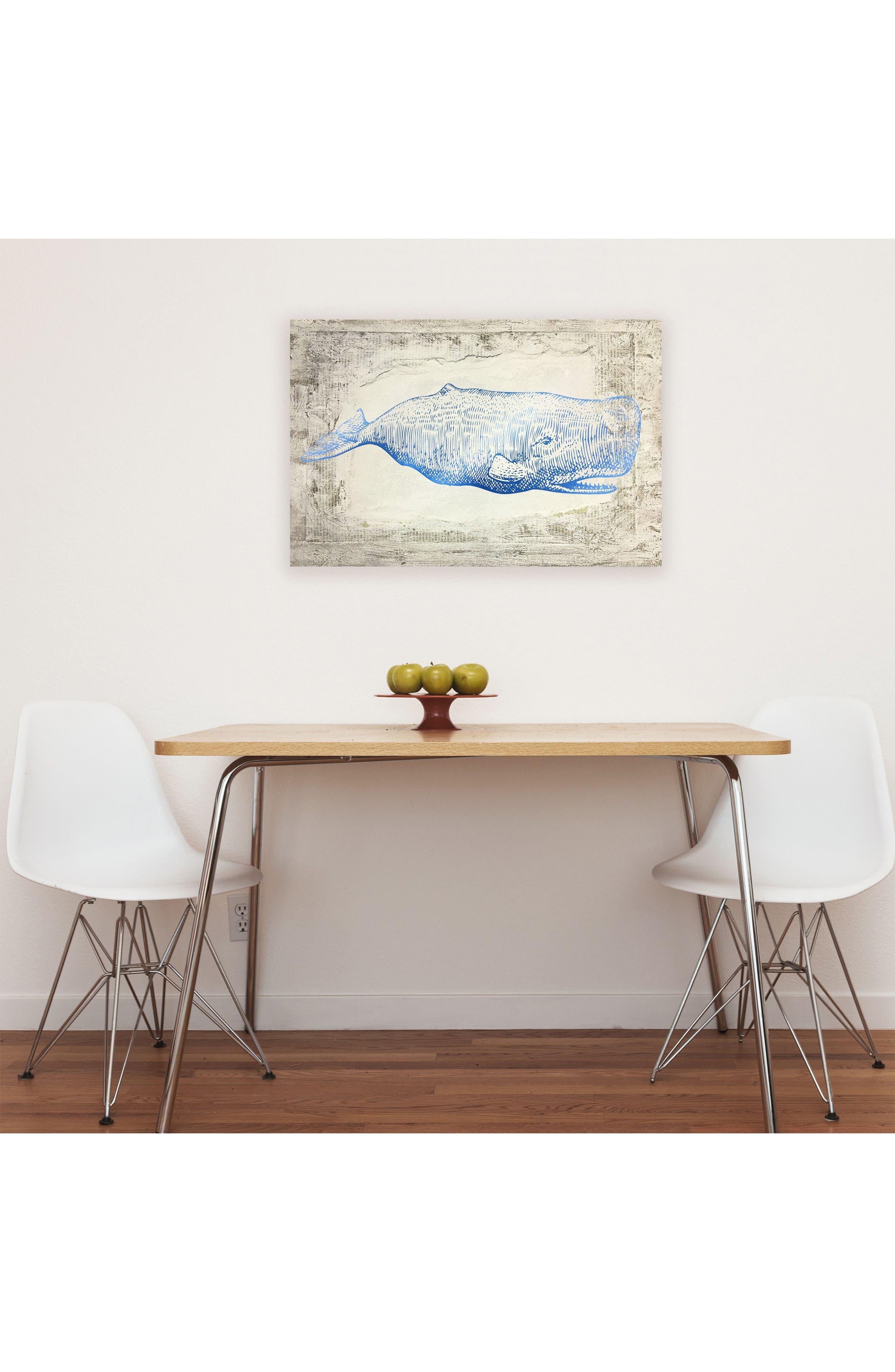 Wynwood Blue Whale Canvas Wall Art,                             Alternate thumbnail 2, color,                             Beige