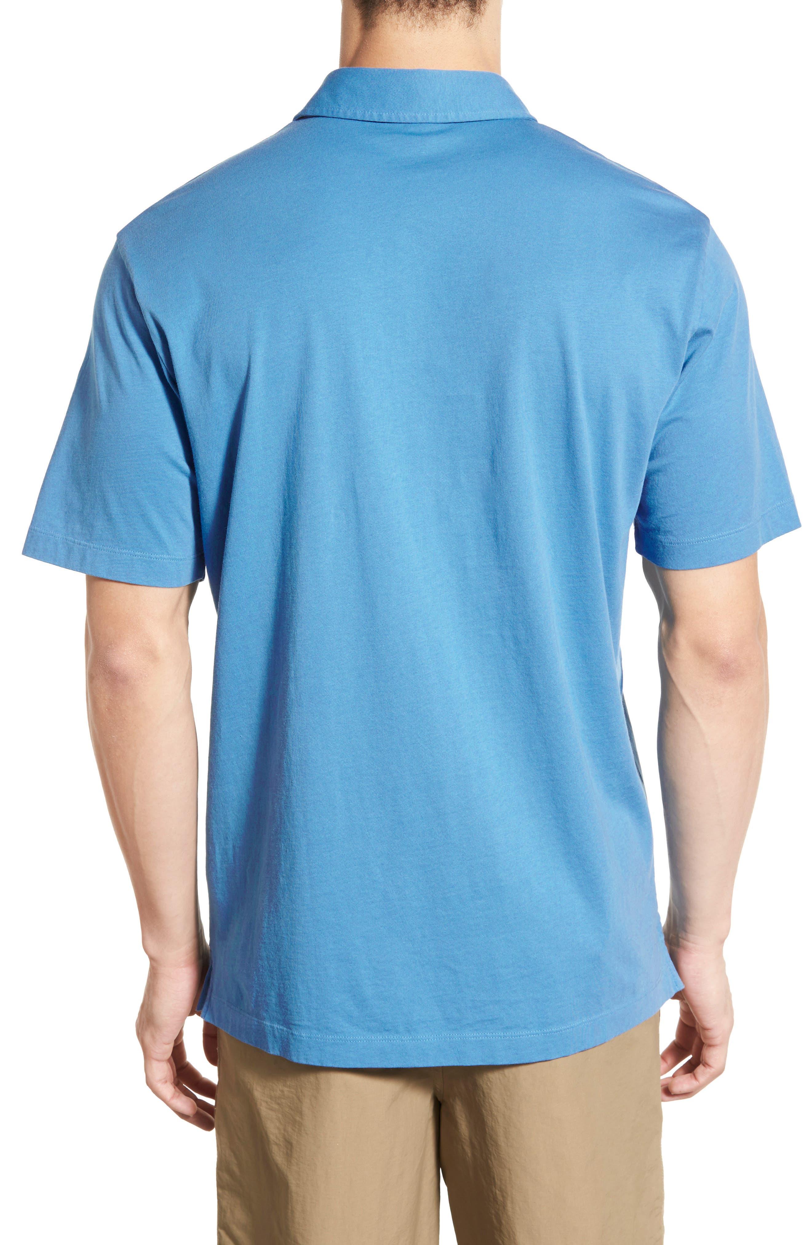 'Trout Fitz Roy' Organic Cotton Polo,                             Alternate thumbnail 9, color,                             Radar Blue
