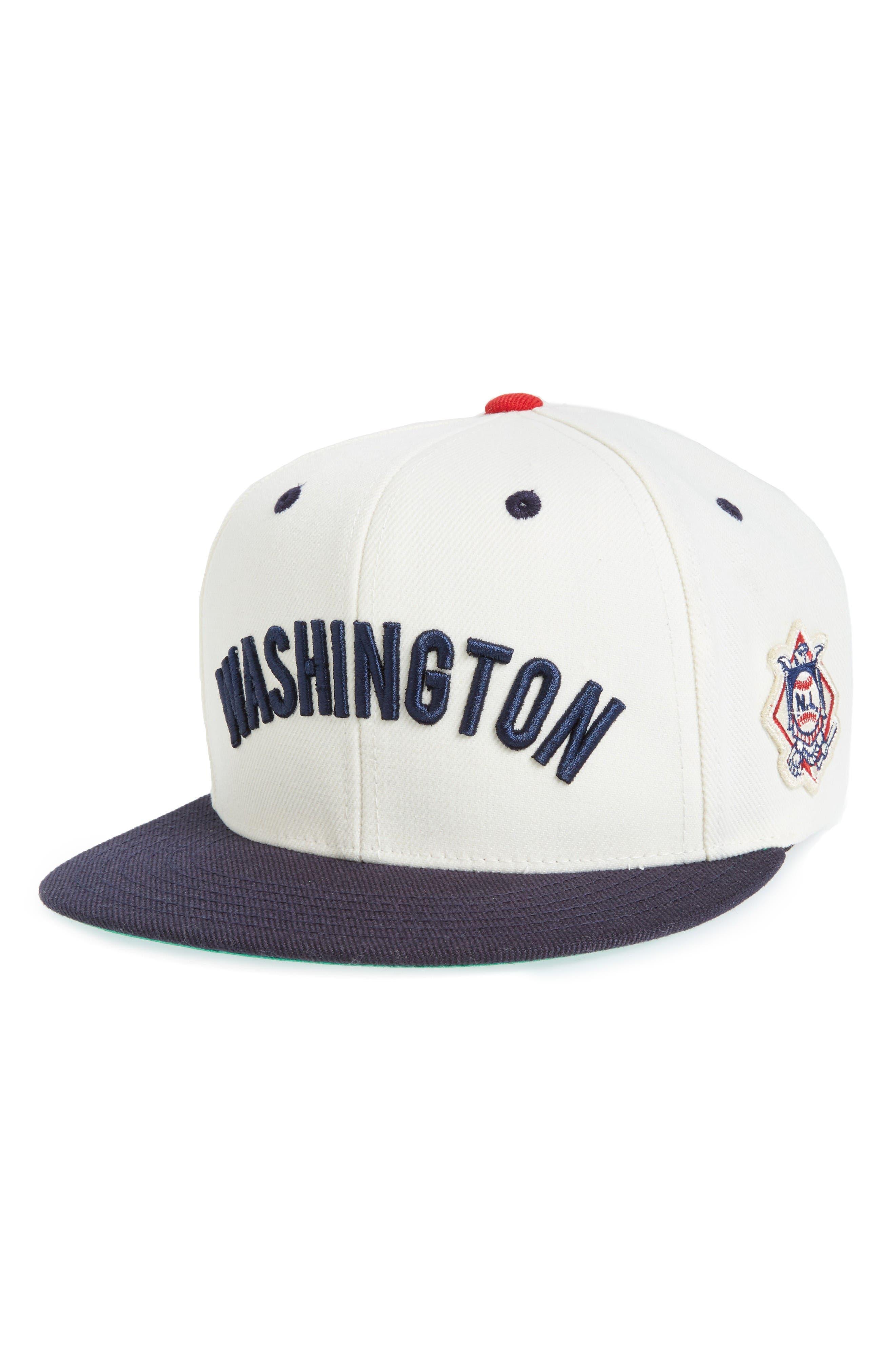 United MLB Snapback Baseball Cap,                         Main,                         color, Nationals