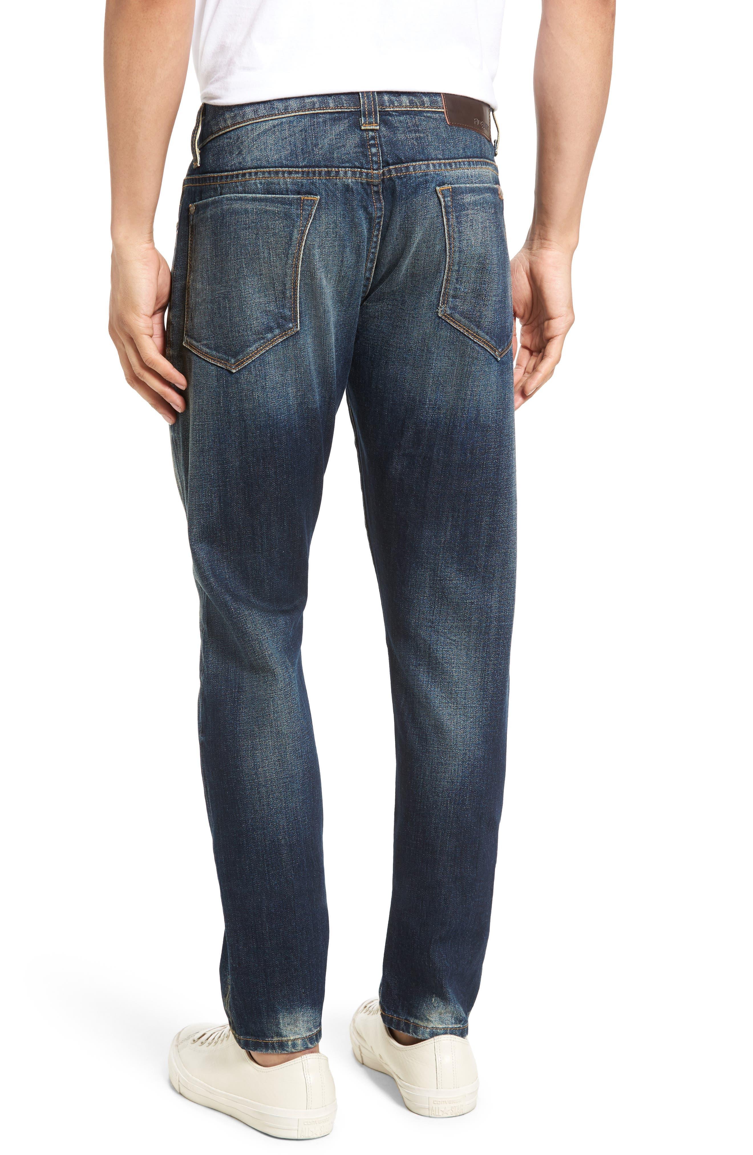 Alternate Image 2  - Fidelity Denim Torino Slim Fit Jeans (Eagle Dark Vintage)