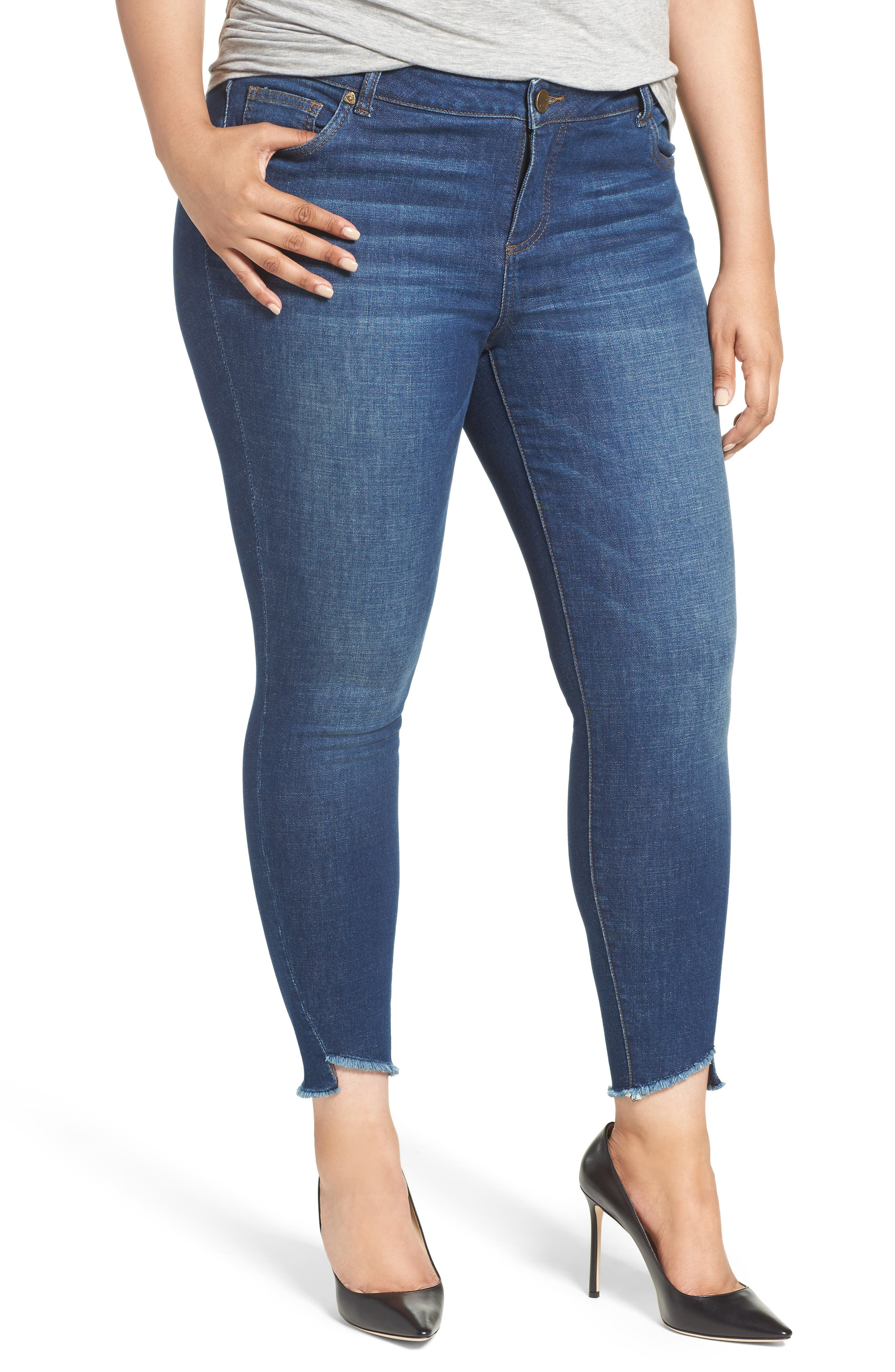 Skinny Ankle Jeans,                         Main,                         color, Blue