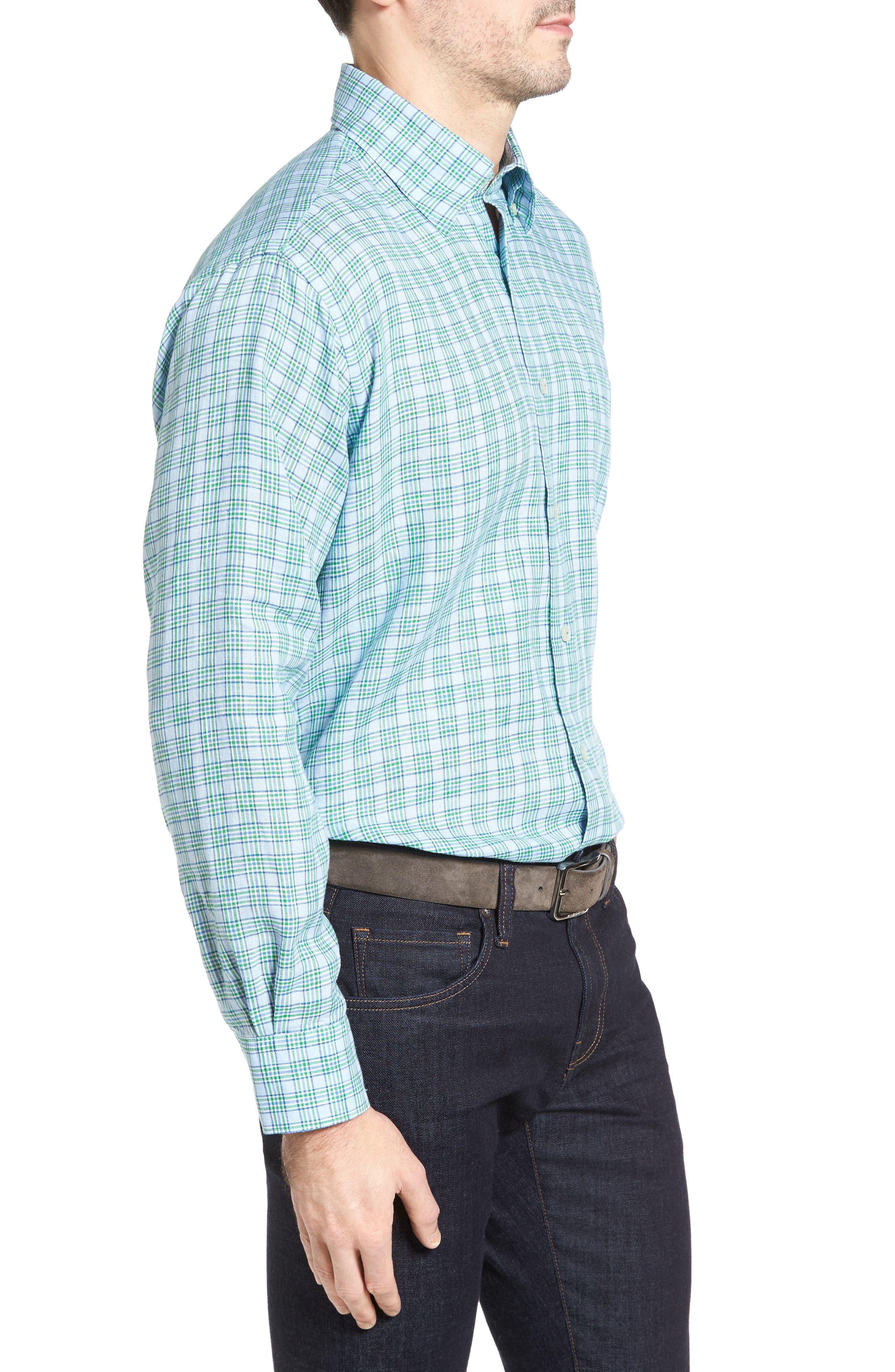 Anderson Classic Fit Sport Shirt,                             Alternate thumbnail 3, color,                             Aqua