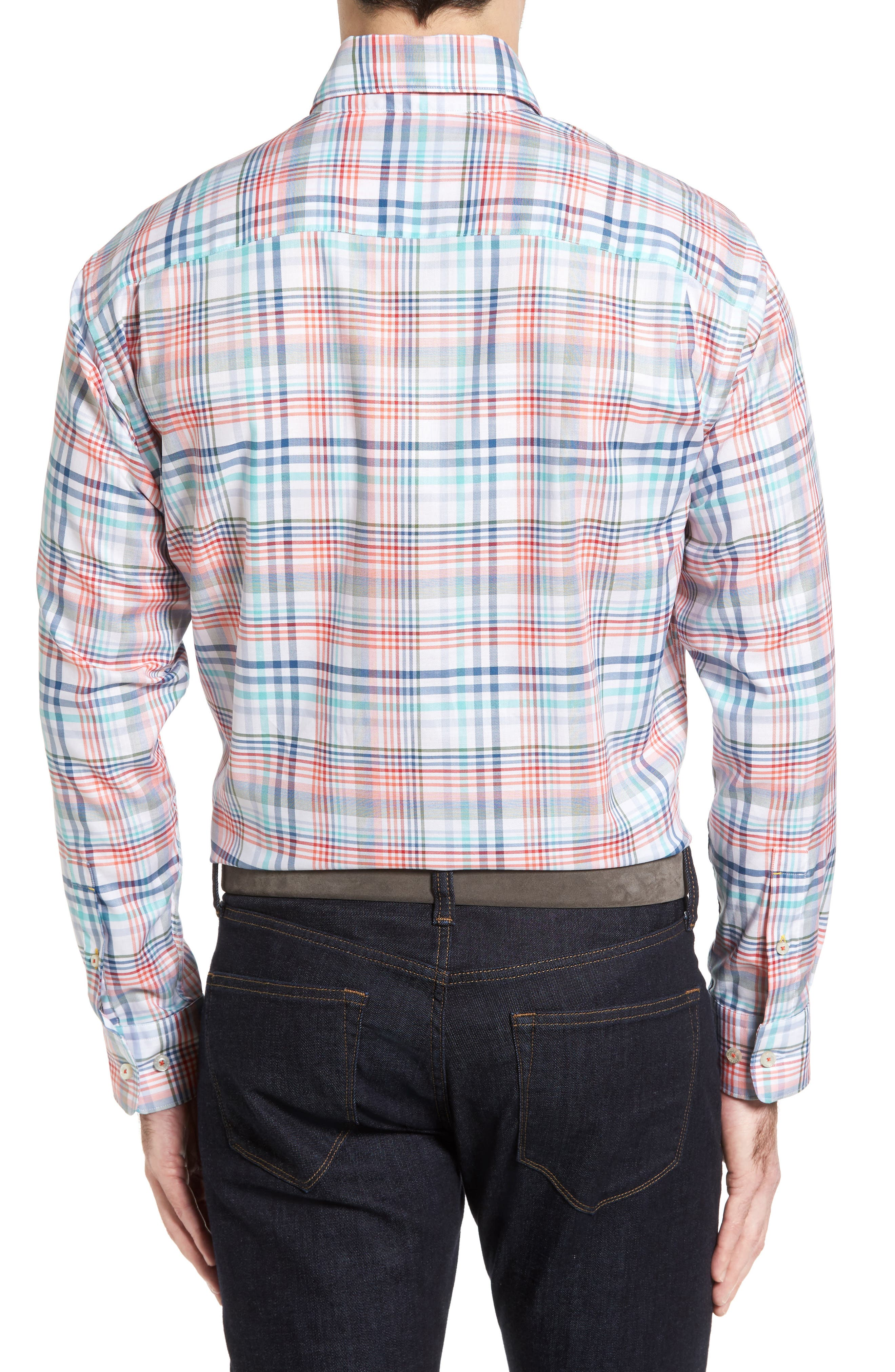 Alternate Image 2  - Robert Talbott Anderson Classic Fit Plaid Twill Sport Shirt