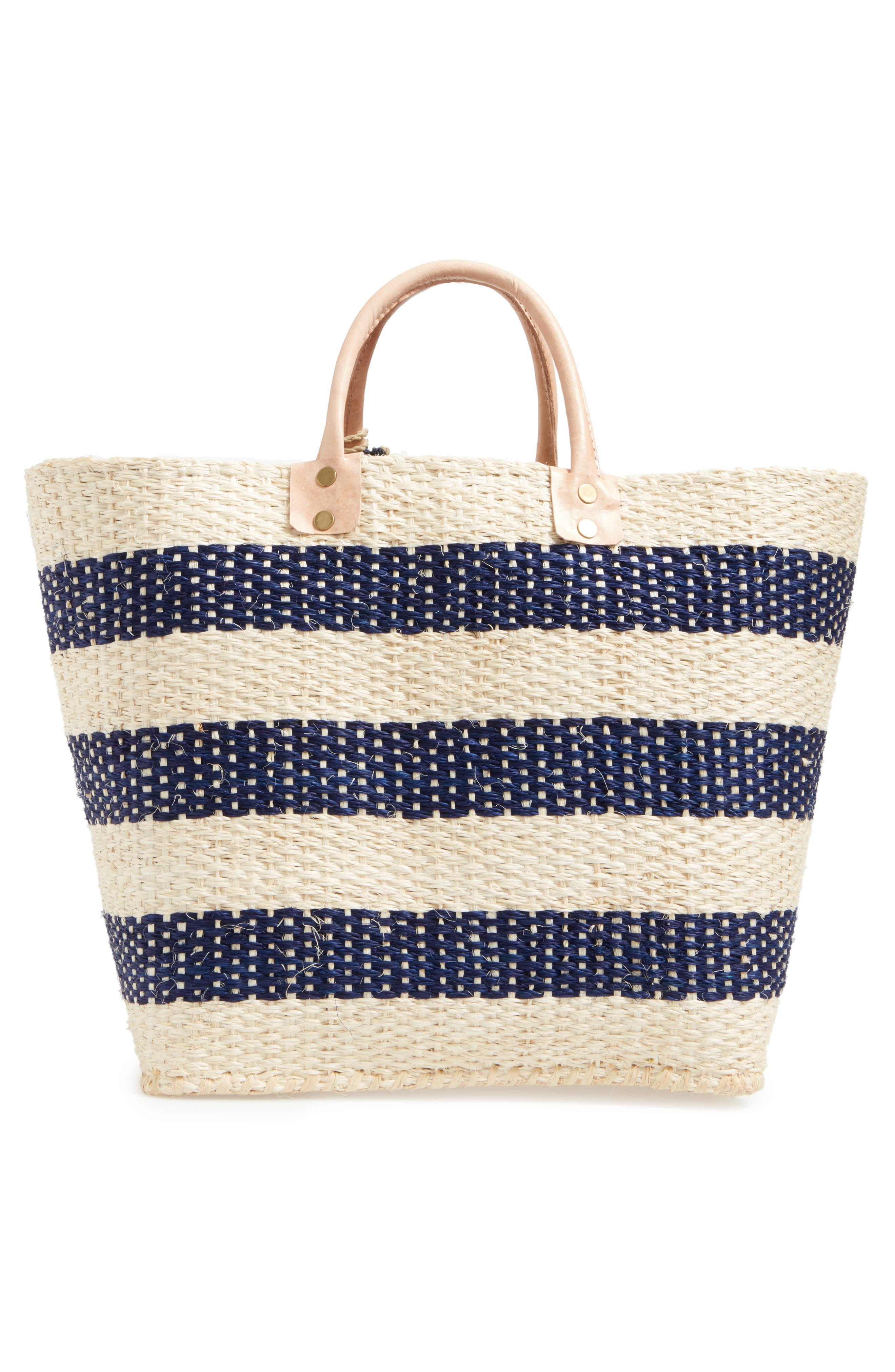 'Collins' Woven Tote,                             Alternate thumbnail 3, color,                             Navy