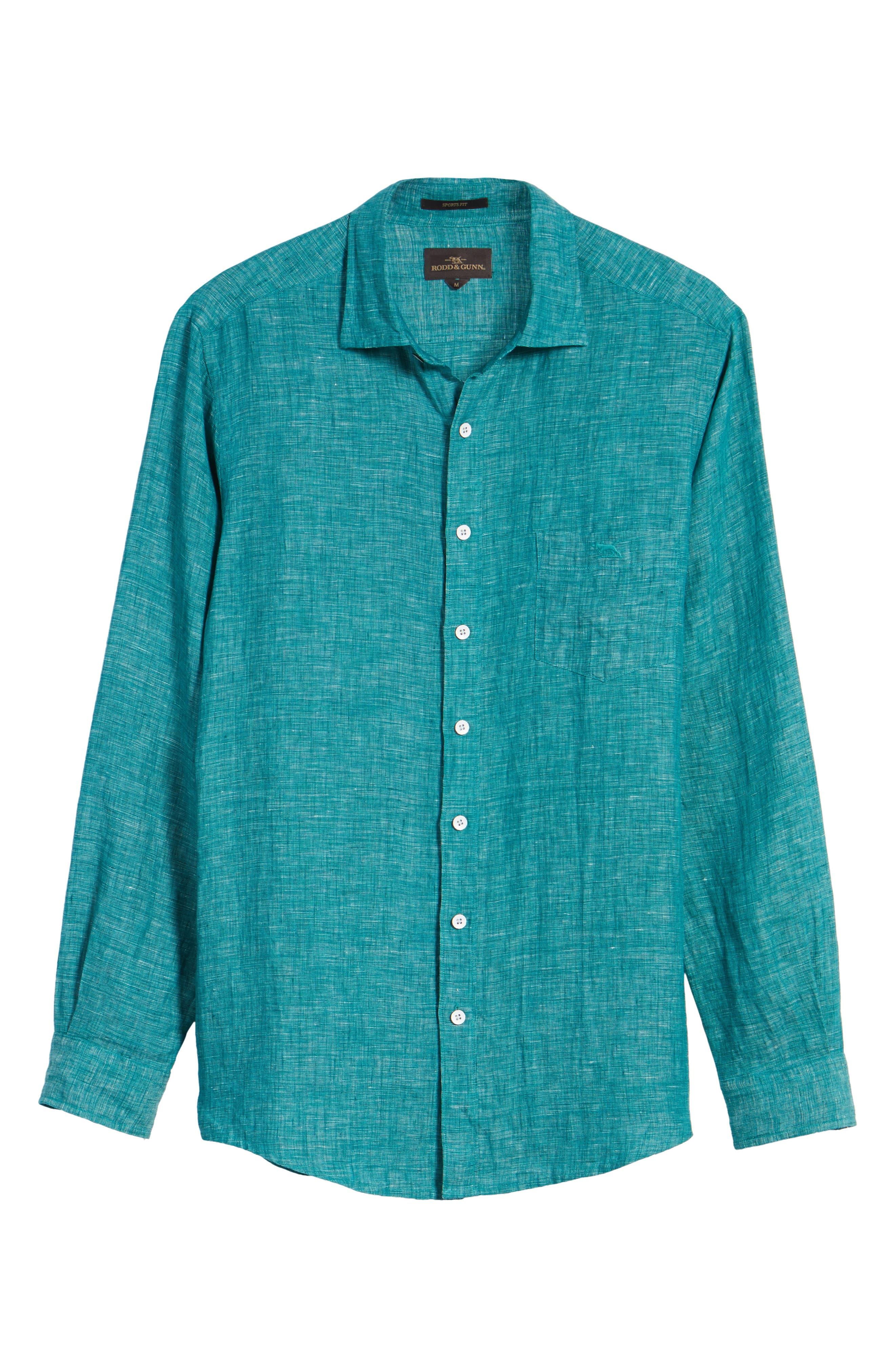 Alternate Image 6  - Rodd & Gunn Norsewood Sports Fit Linen Sport Shirt