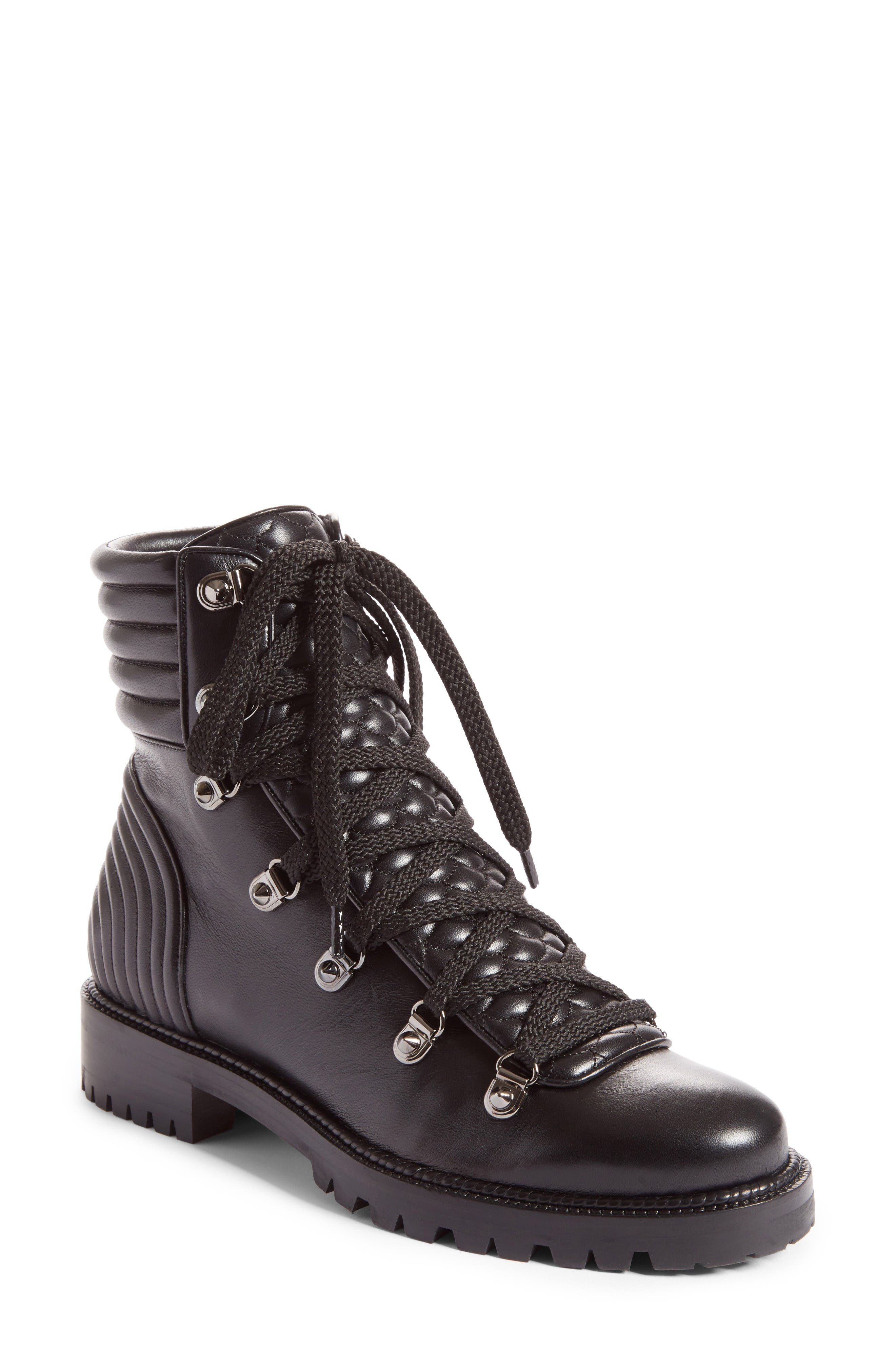 Mad Combat Boot,                         Main,                         color, Black Leather