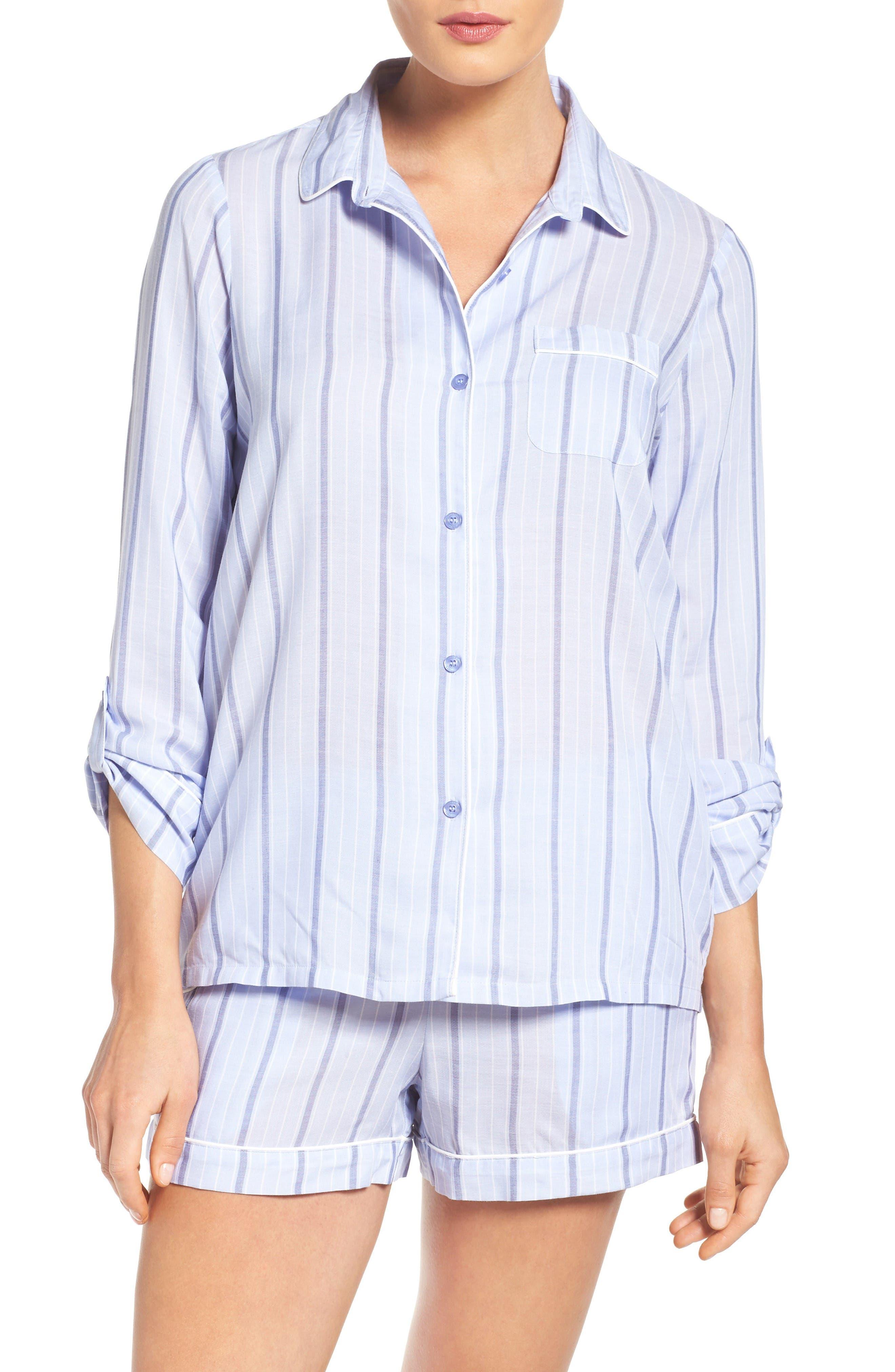 Alternate Image 1 Selected - Nordstrom Lingerie Stripe Short Pajamas