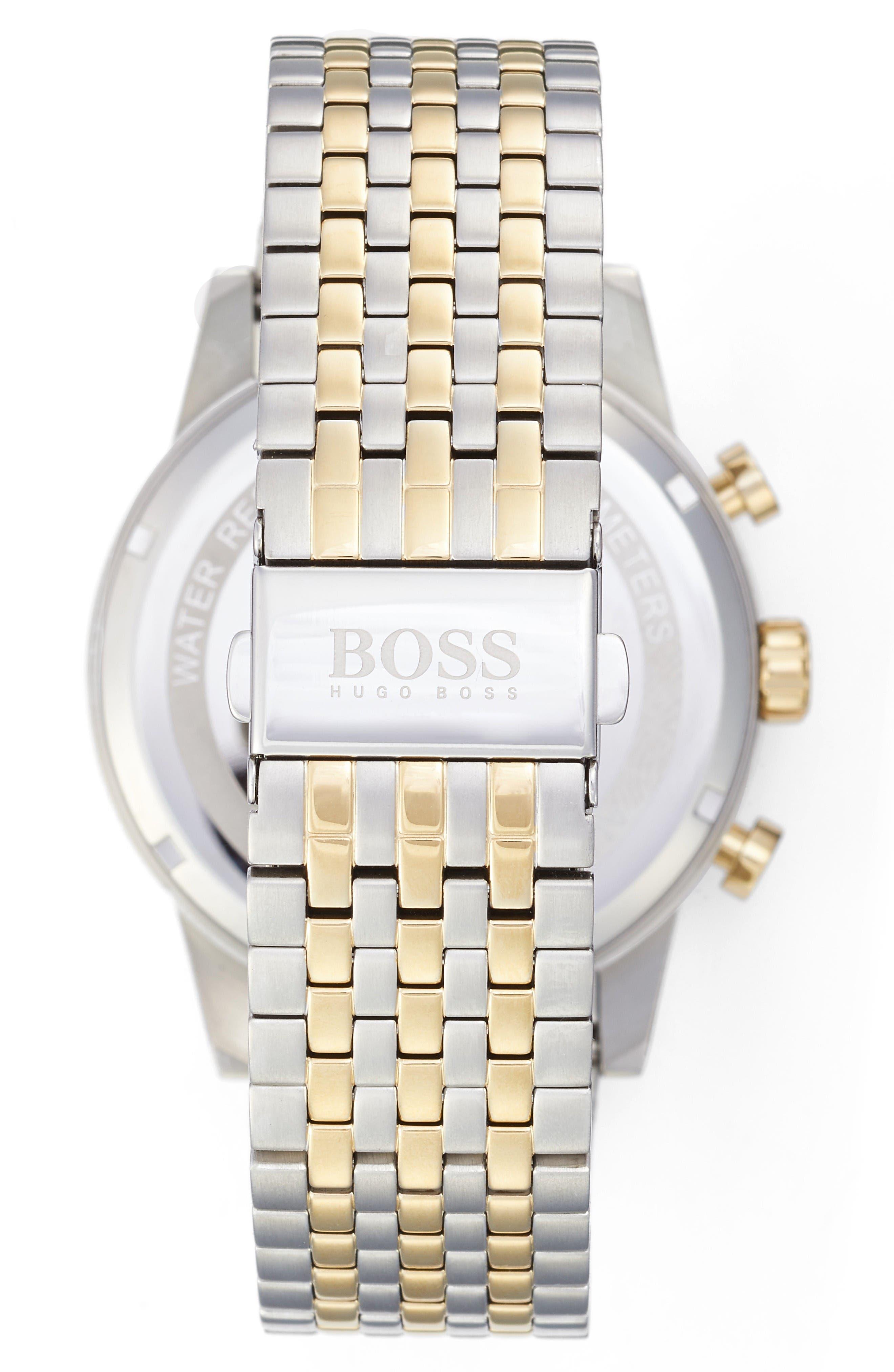 Navigator Chronograph Bracelet Watch, 44mm,                             Alternate thumbnail 2, color,                             Silver/ Silver