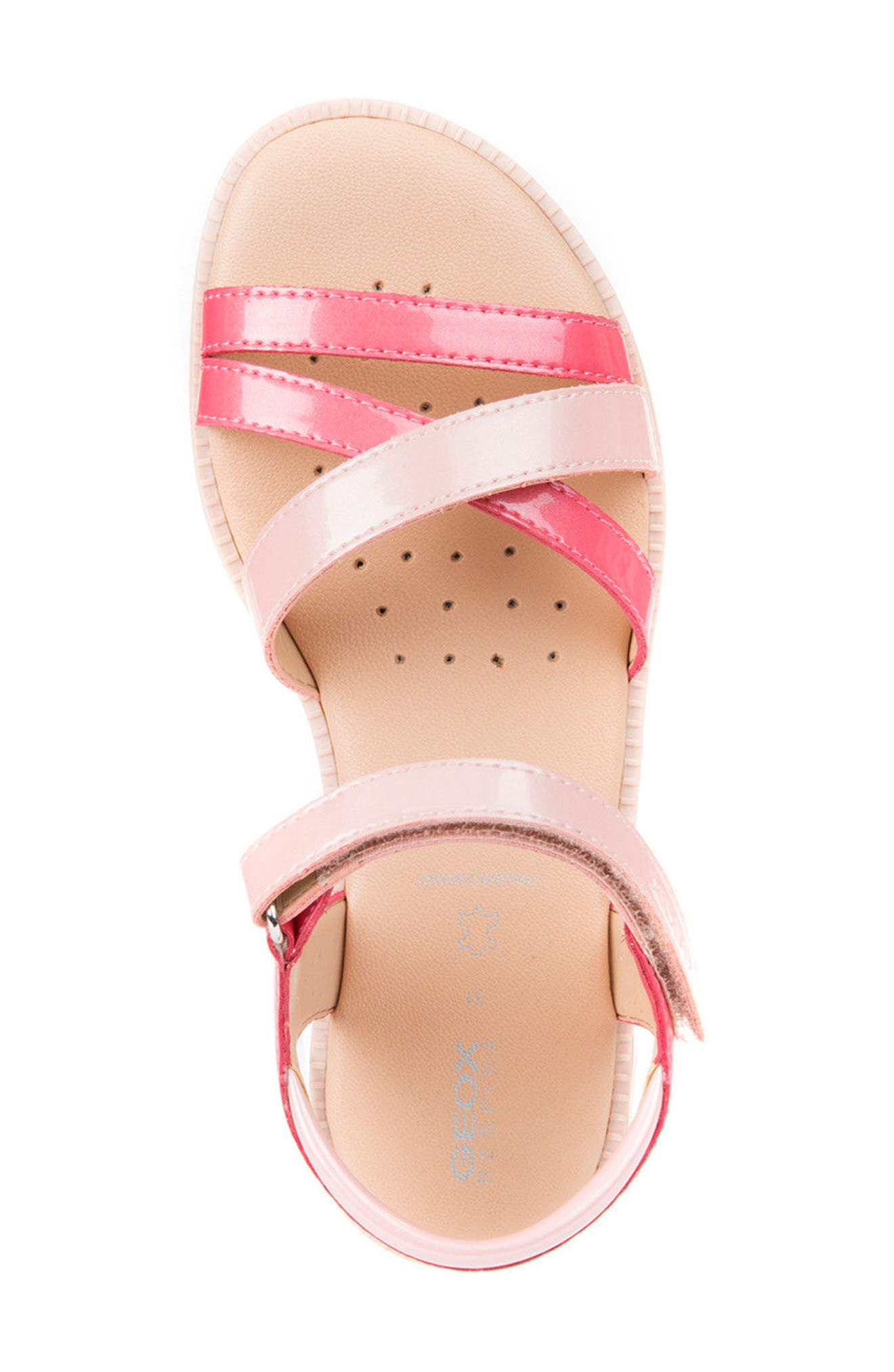 Karly Girl Sandal,                             Alternate thumbnail 5, color,                             Light Coral/ Rose