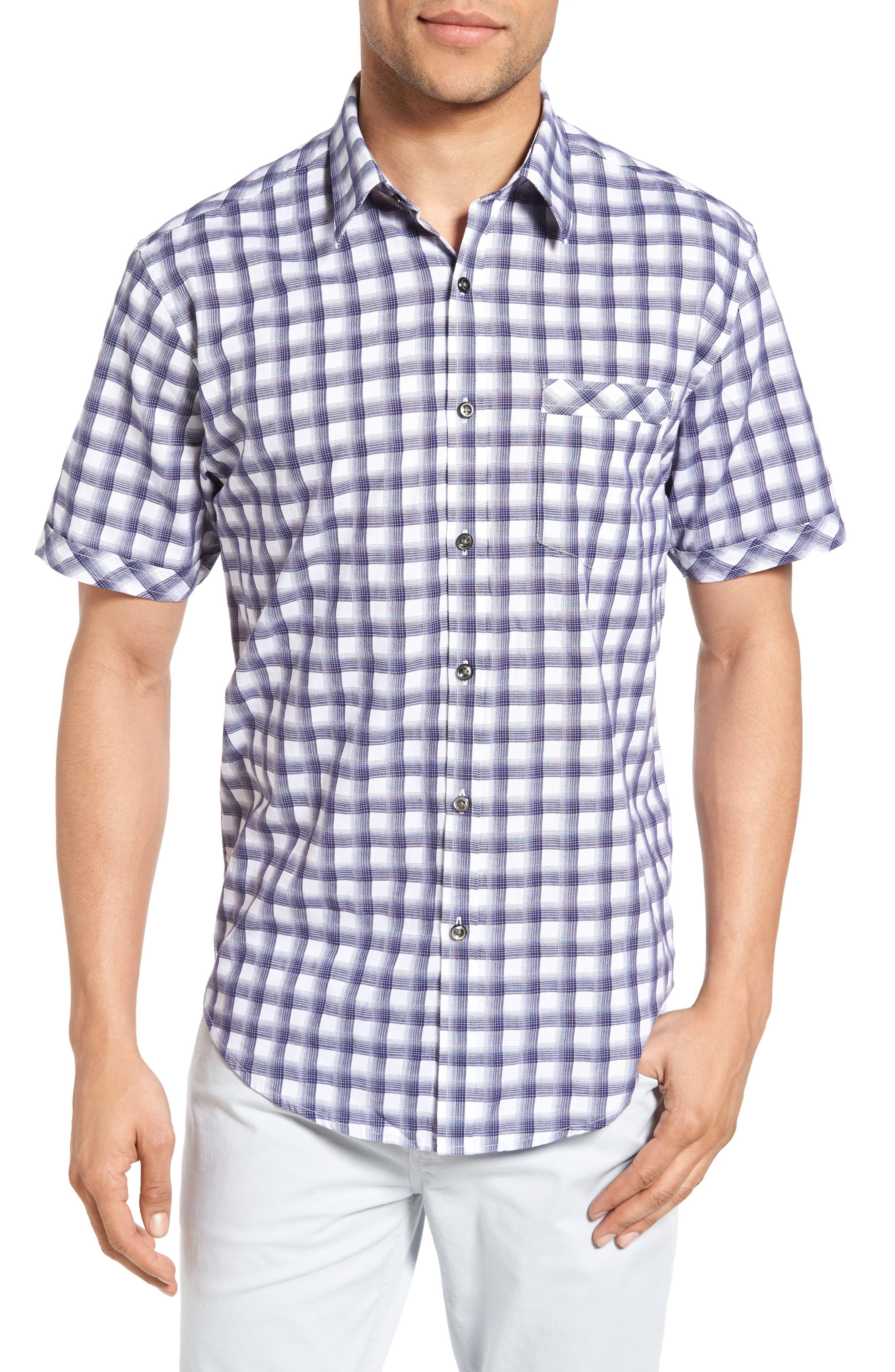 James Campbell Rogen Plaid Sport Shirt