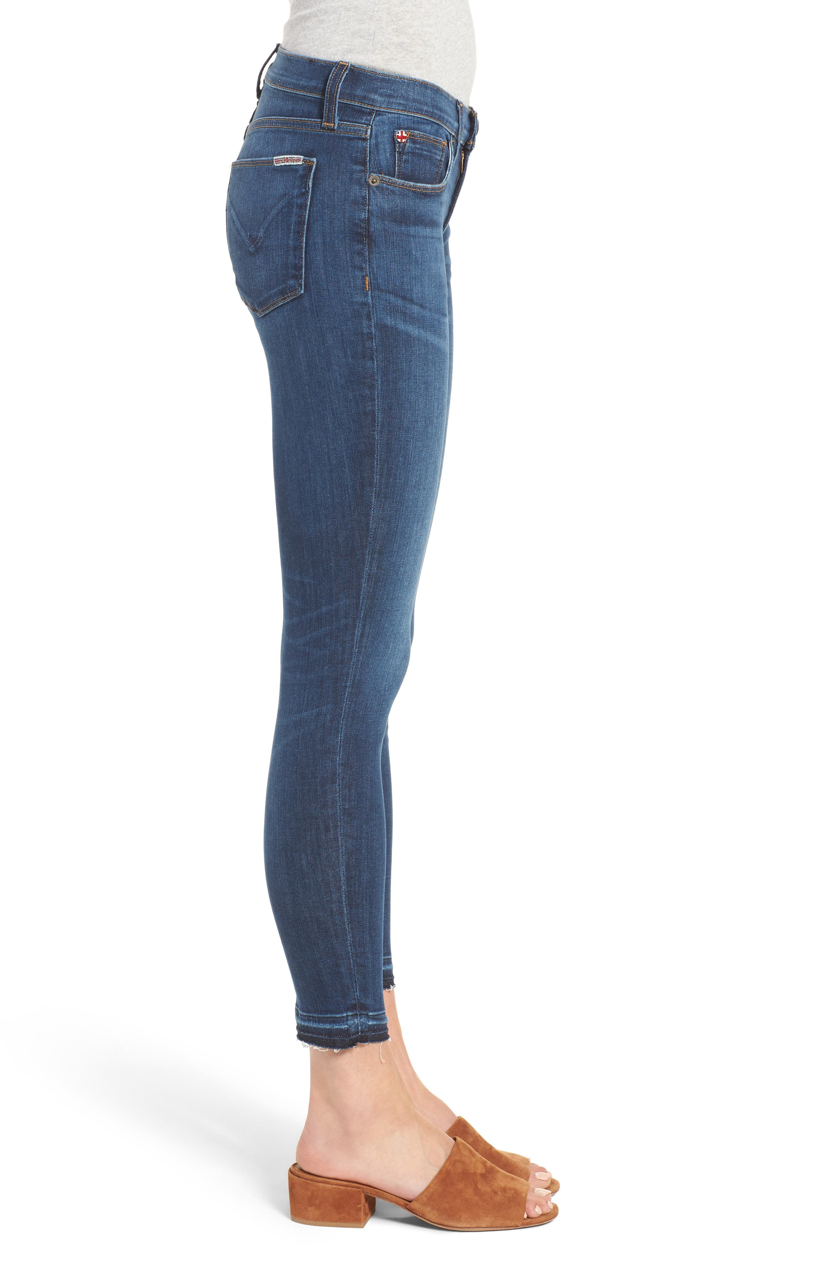 Krista Crop Super Skinny Jeans,                             Alternate thumbnail 3, color,                             Dream On