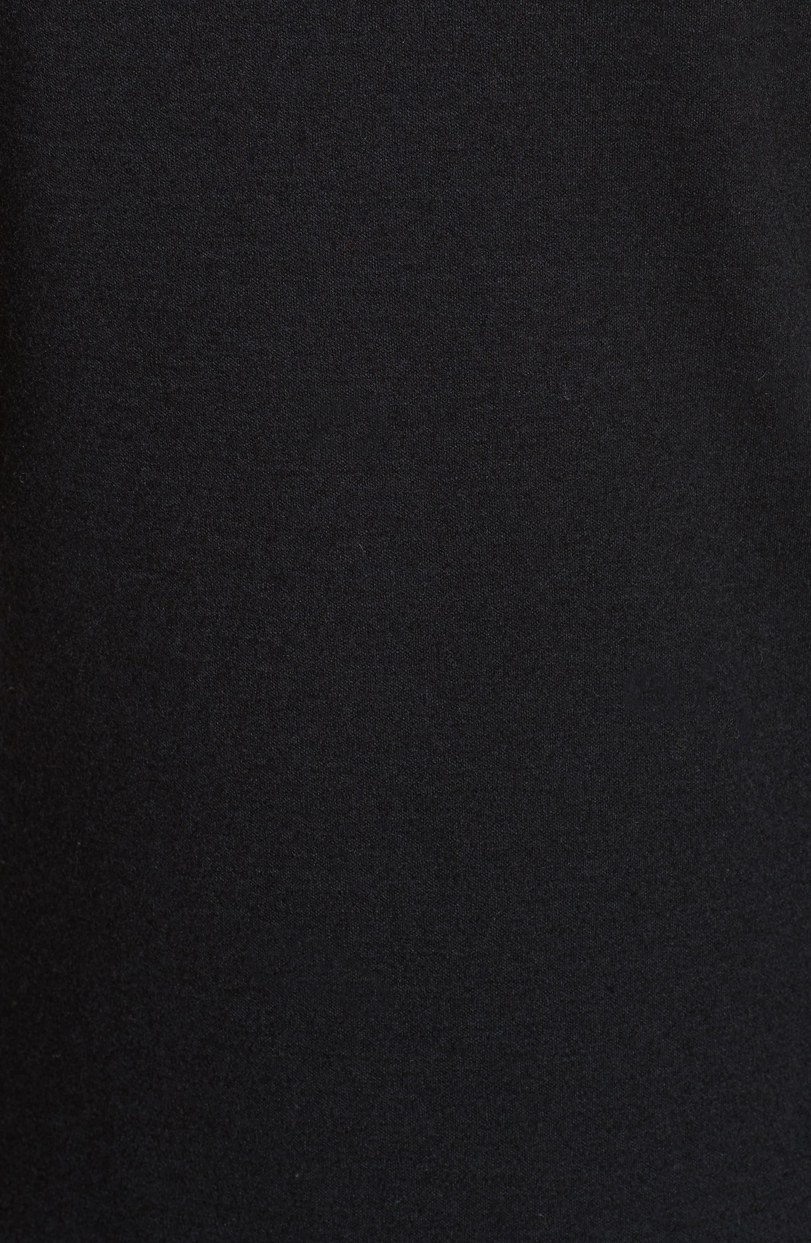 Slash Cuff Wool Blend Dress,                             Alternate thumbnail 5, color,                             Black