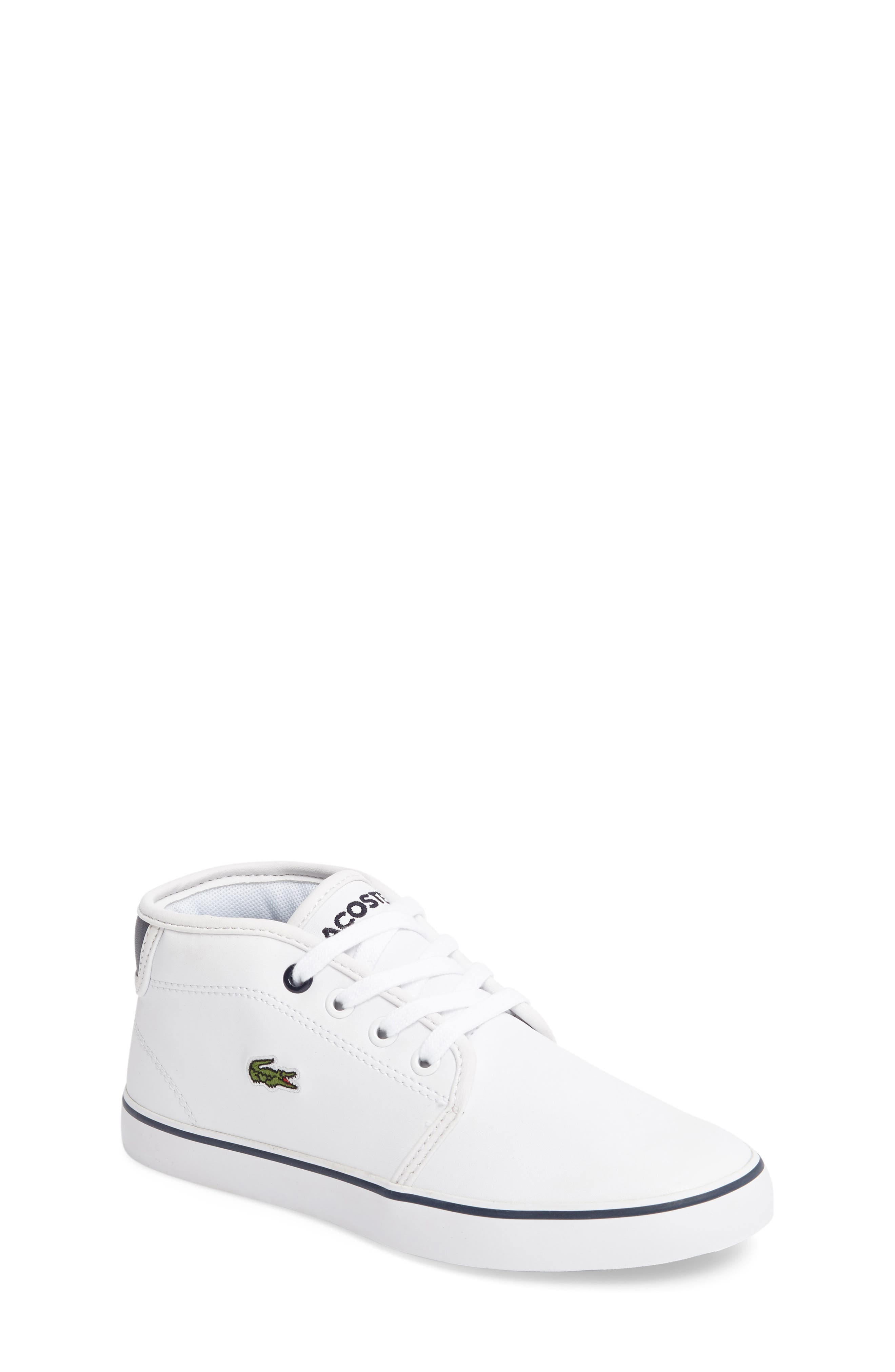Ampthill High Top Sneaker,                             Main thumbnail 1, color,                             White/ Navy Faux Leather