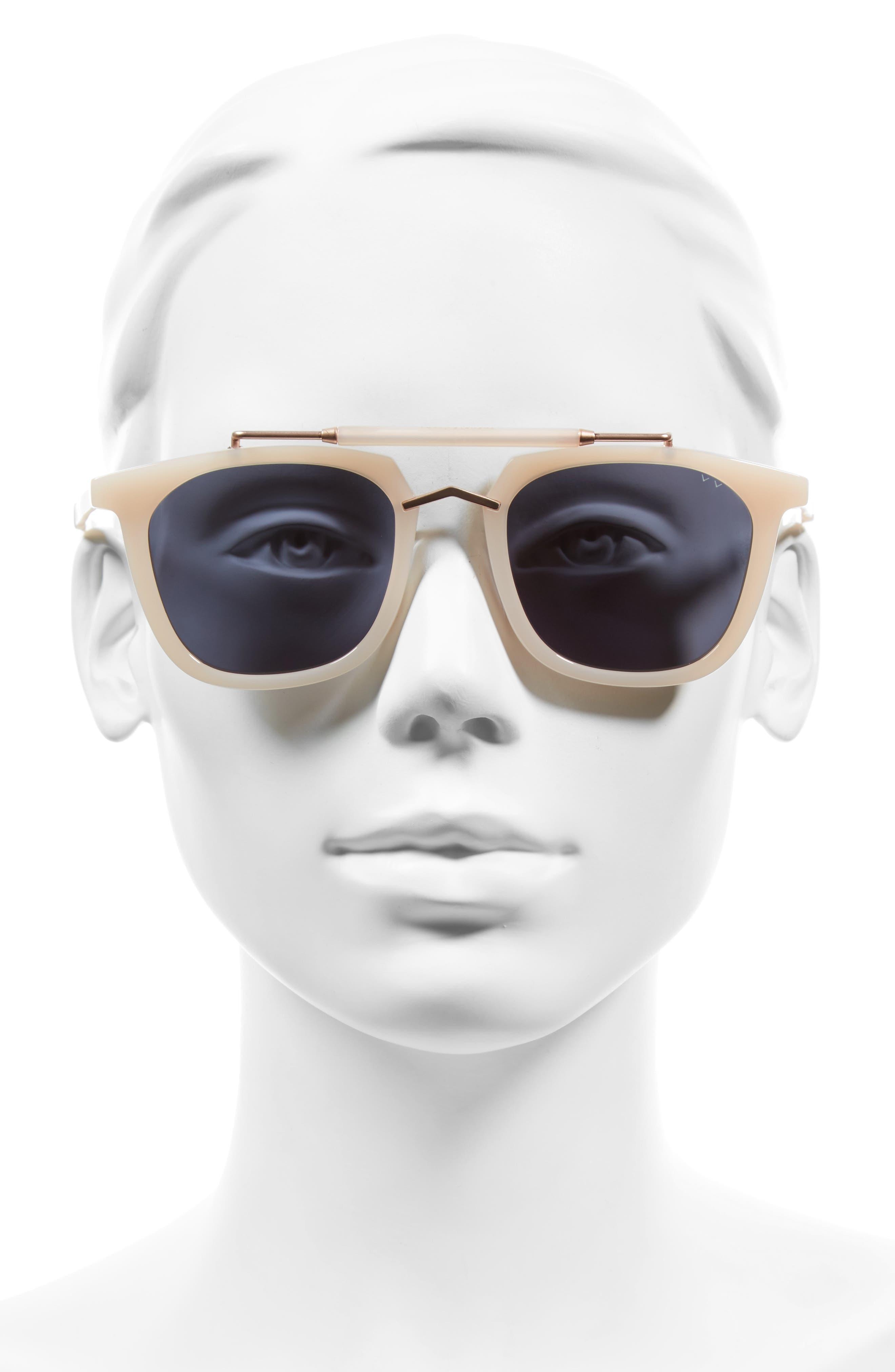 Camels & Caravans 50mm Retro Sunglasses,                             Alternate thumbnail 2, color,                             Blush/ Rose Gold Grey