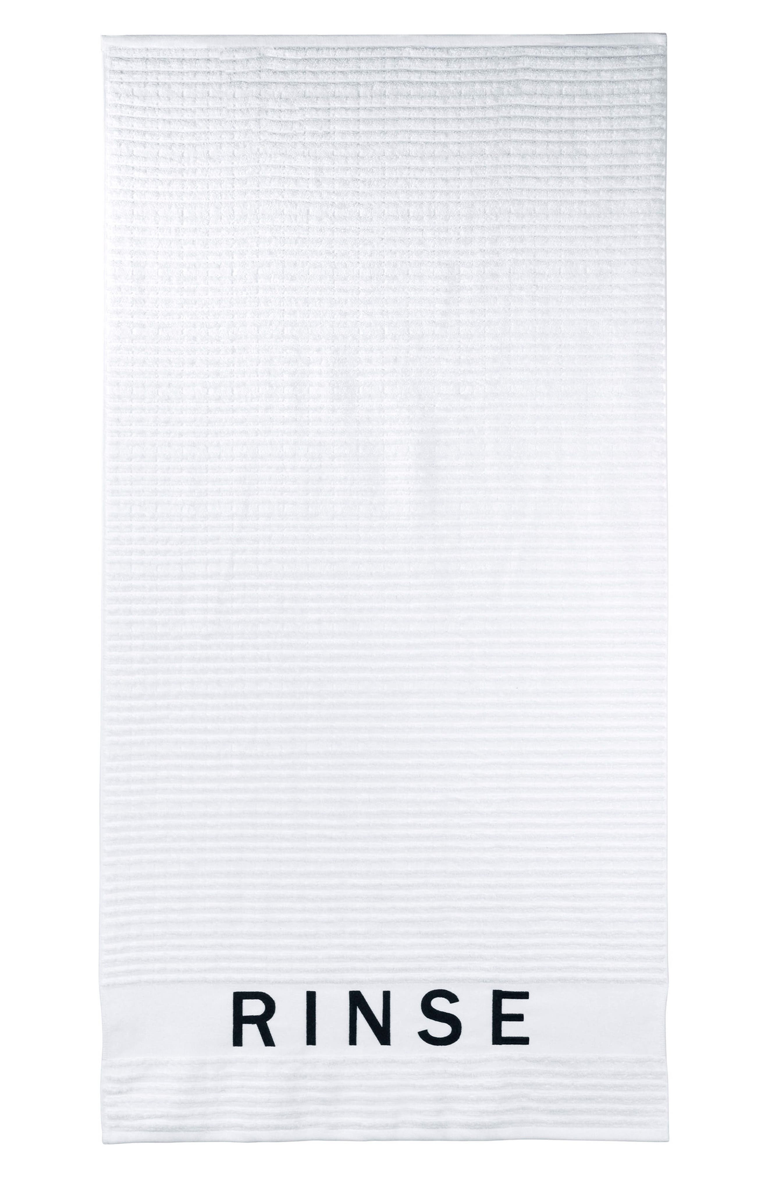 Chatter Bath Towel,                             Main thumbnail 1, color,                             White