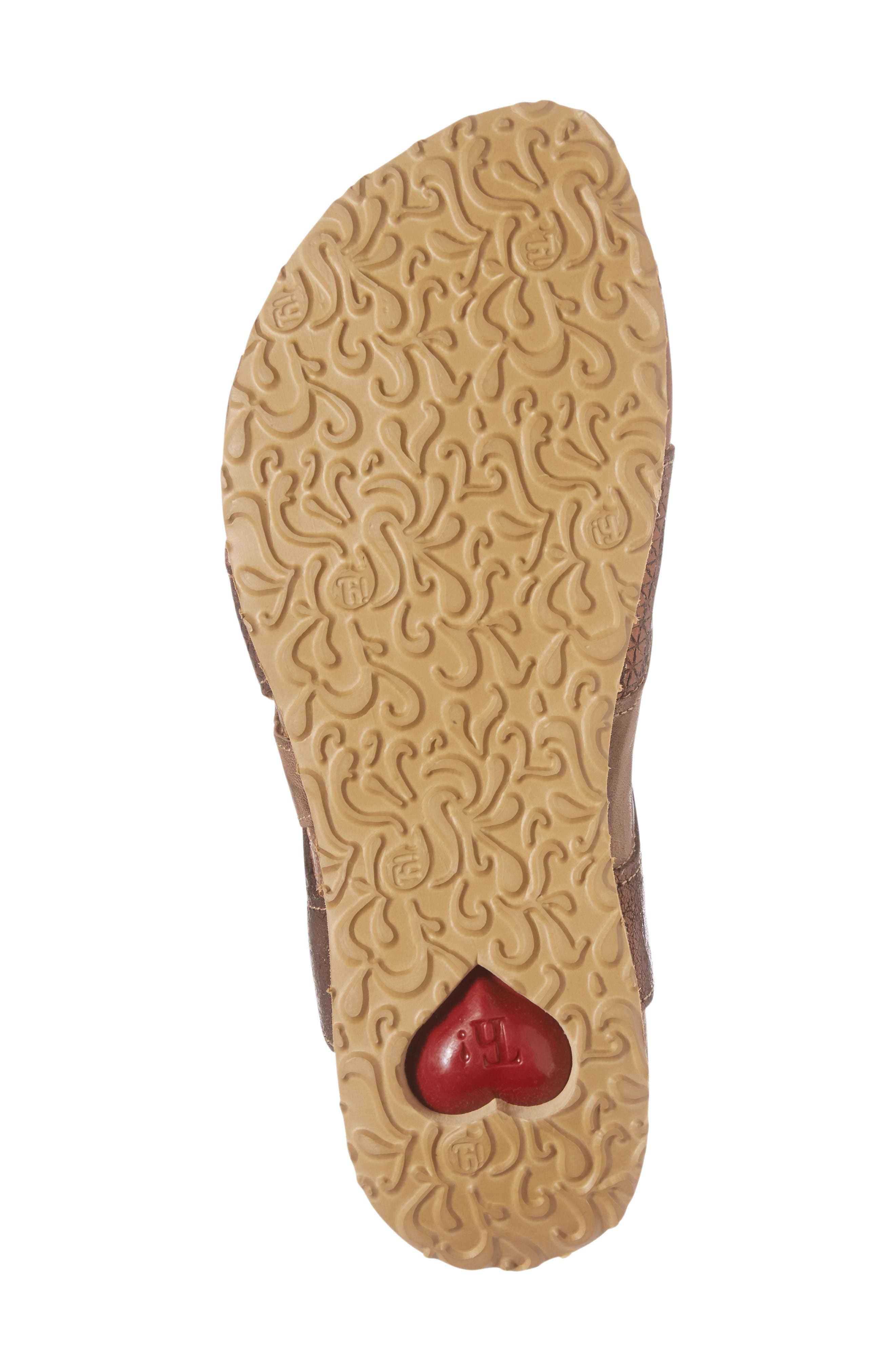 Julia Sandal,                             Alternate thumbnail 6, color,                             Lion Brown Leather