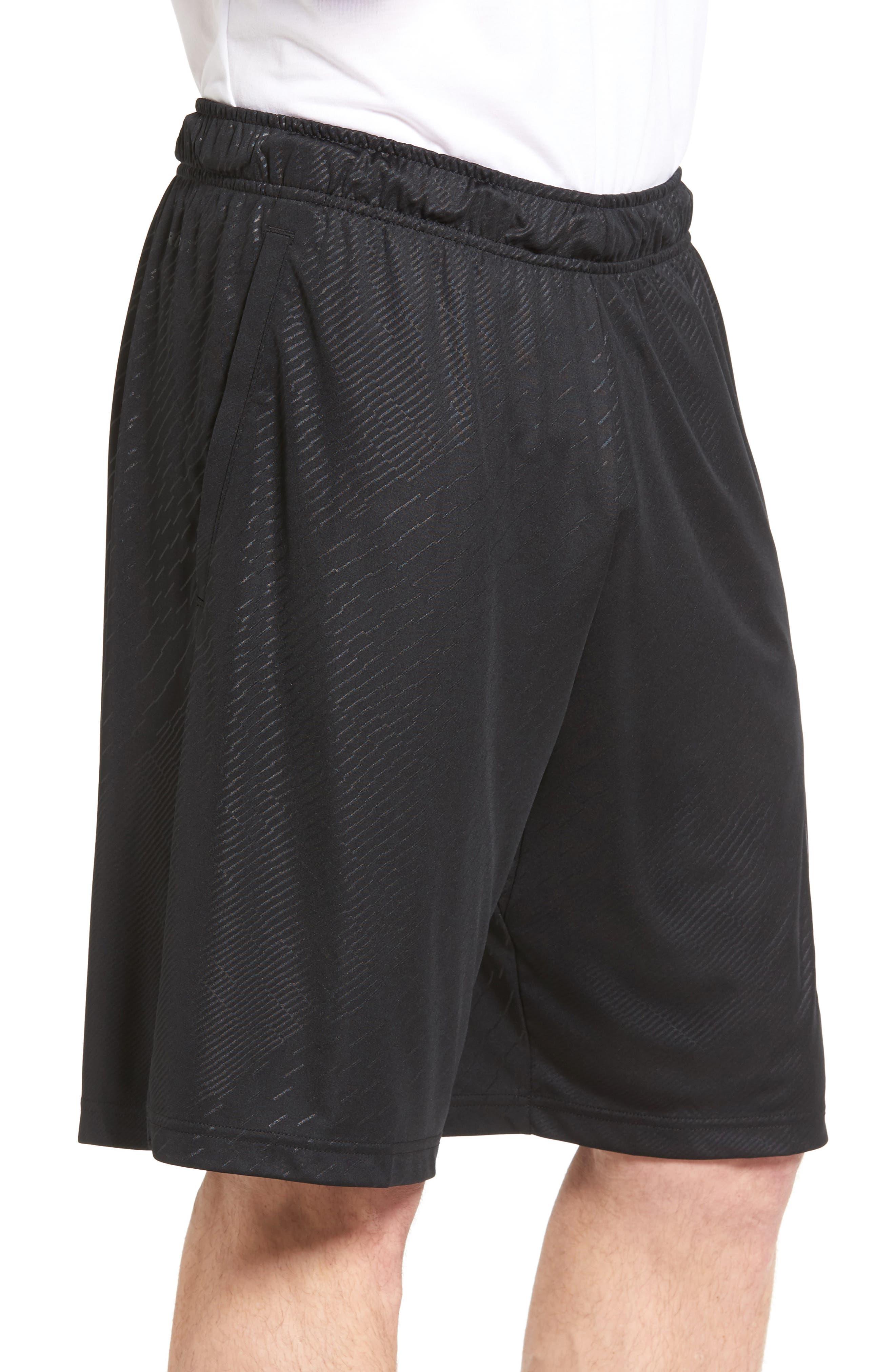 Dry Training Shorts,                             Alternate thumbnail 3, color,                             Black/ White