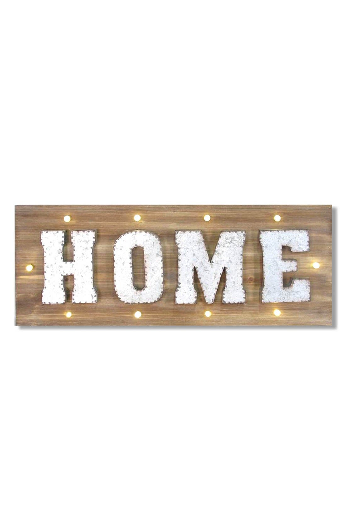 Main Image - Crystal Art Gallery 'Home' Marquee Light Wooden Sign