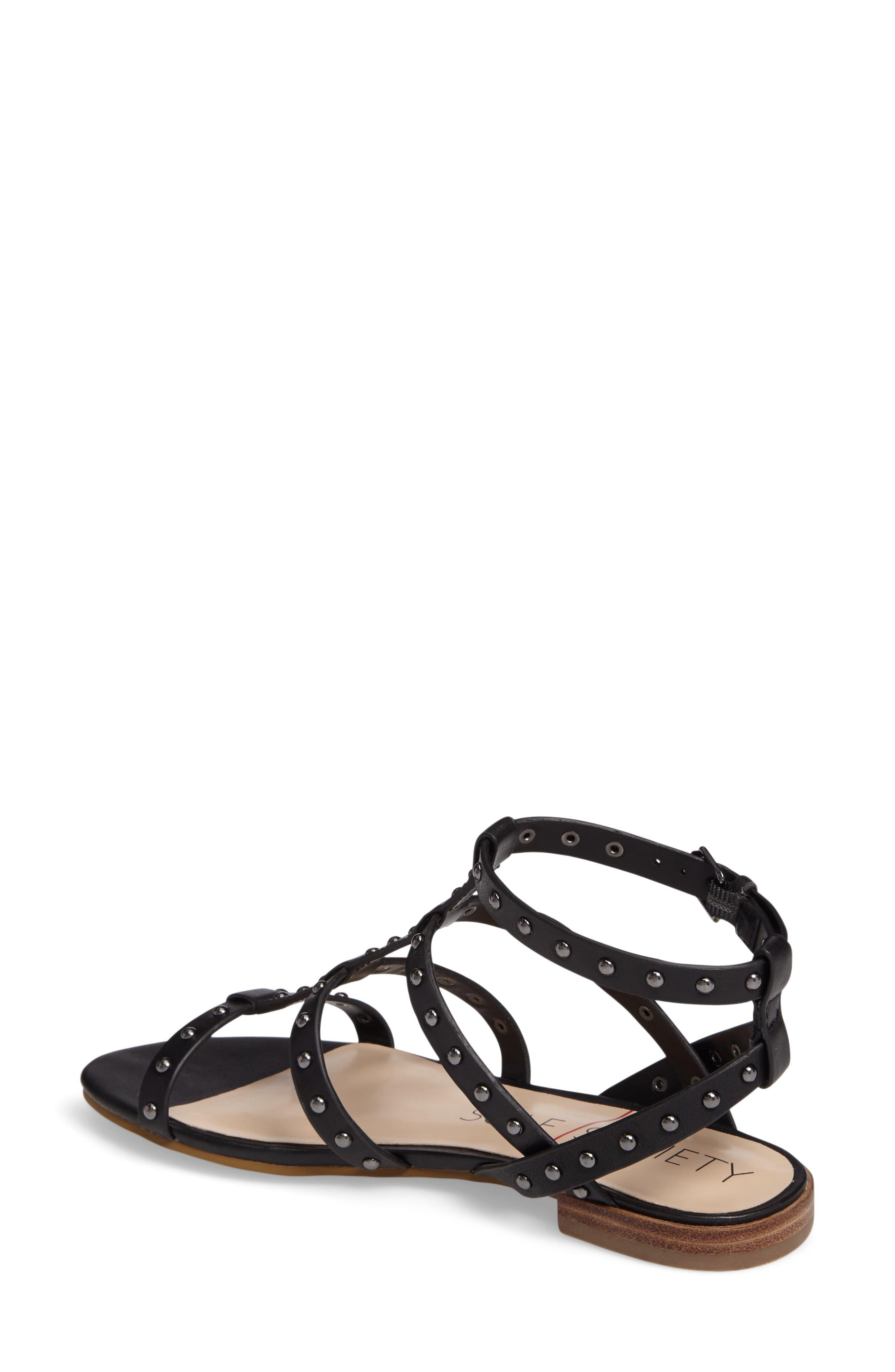 Celine Sandal,                             Alternate thumbnail 2, color,                             Black Leather