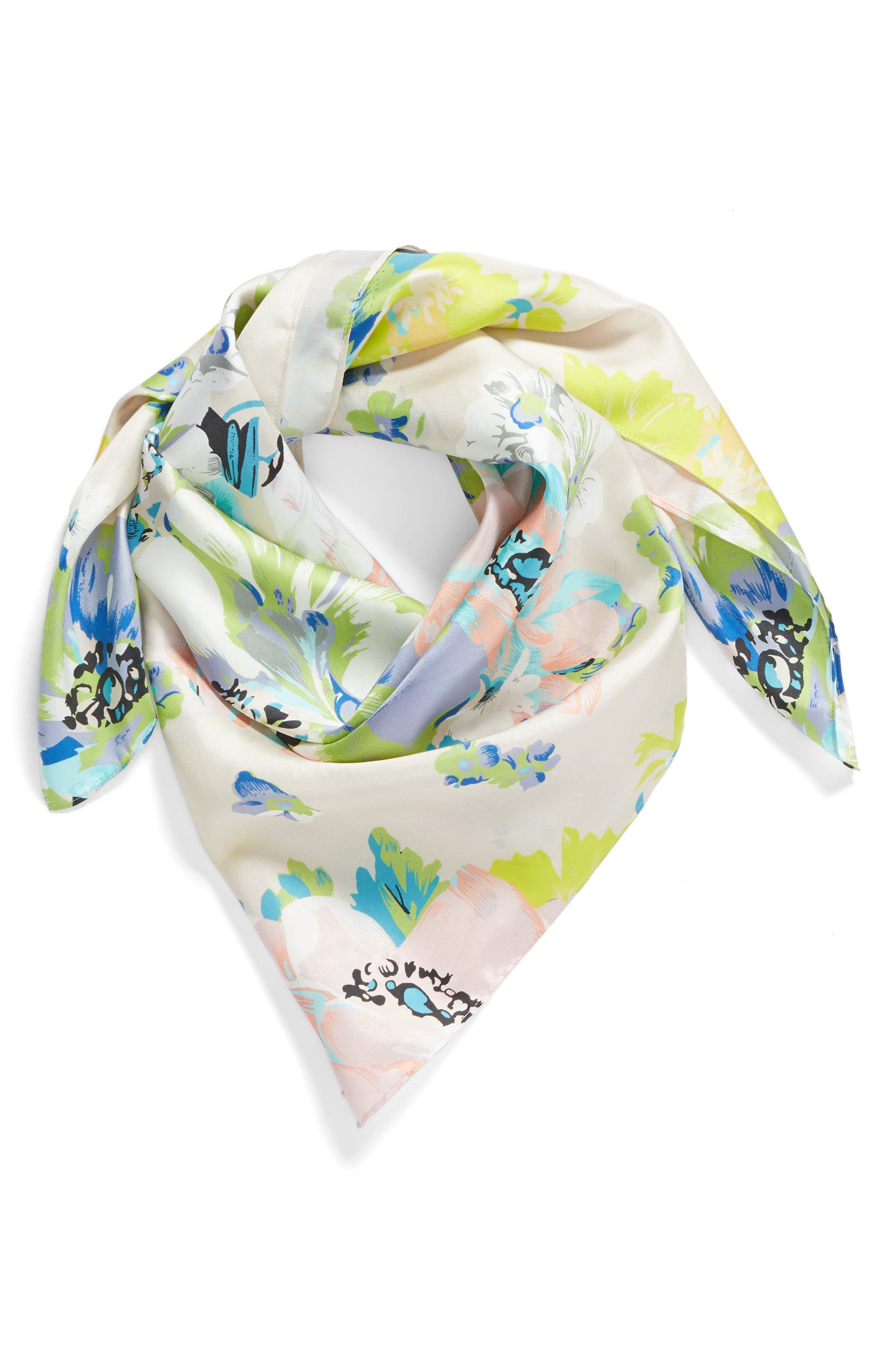 Main Image - Echo Floral Silk Square Scarf