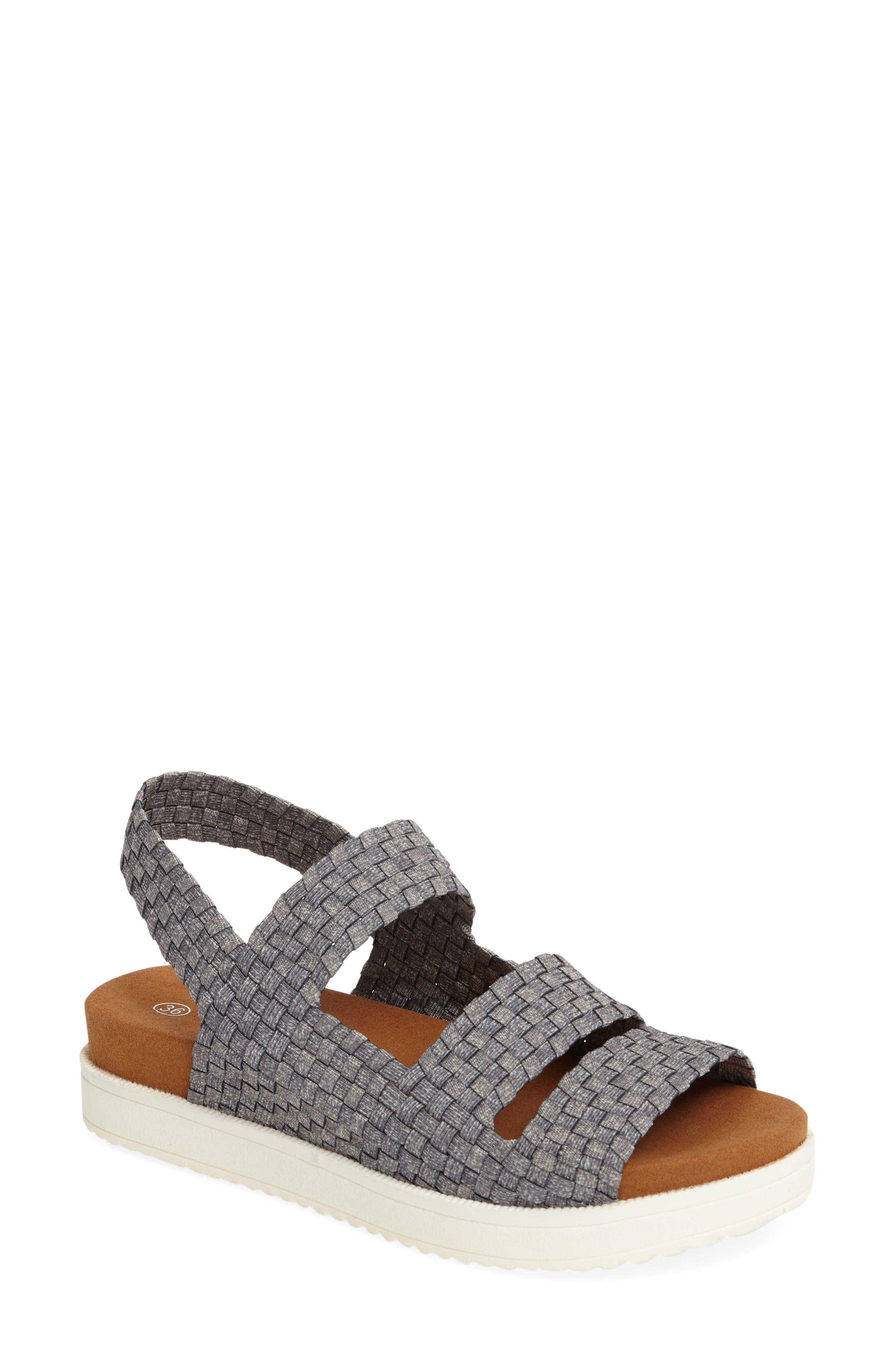 bernie mev. 'Crisp' Woven Platform Sandal (Women)