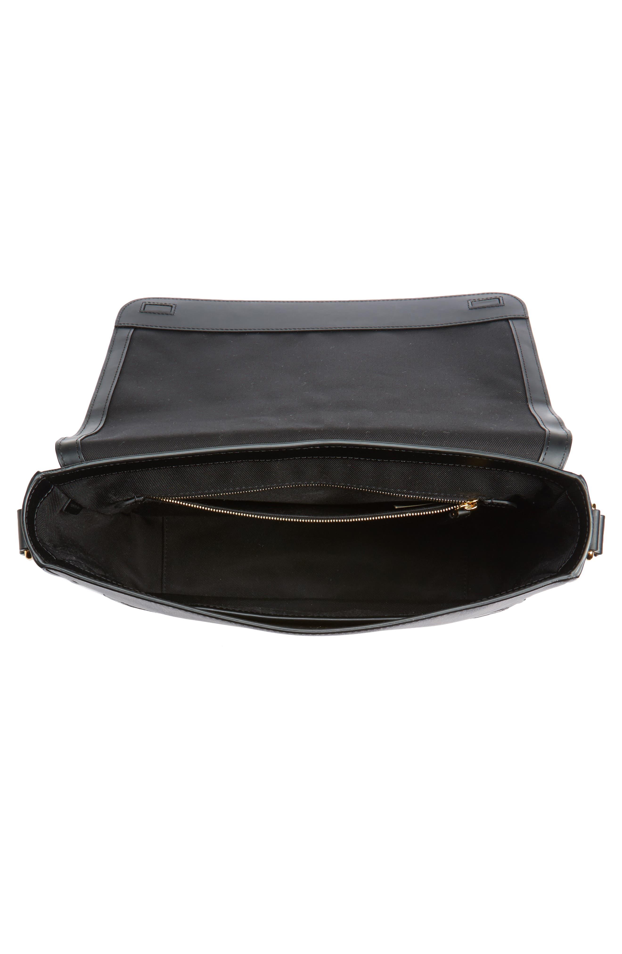 Edgware Check Messenger Bag,                             Alternate thumbnail 4, color,                             Chocolate/ Black