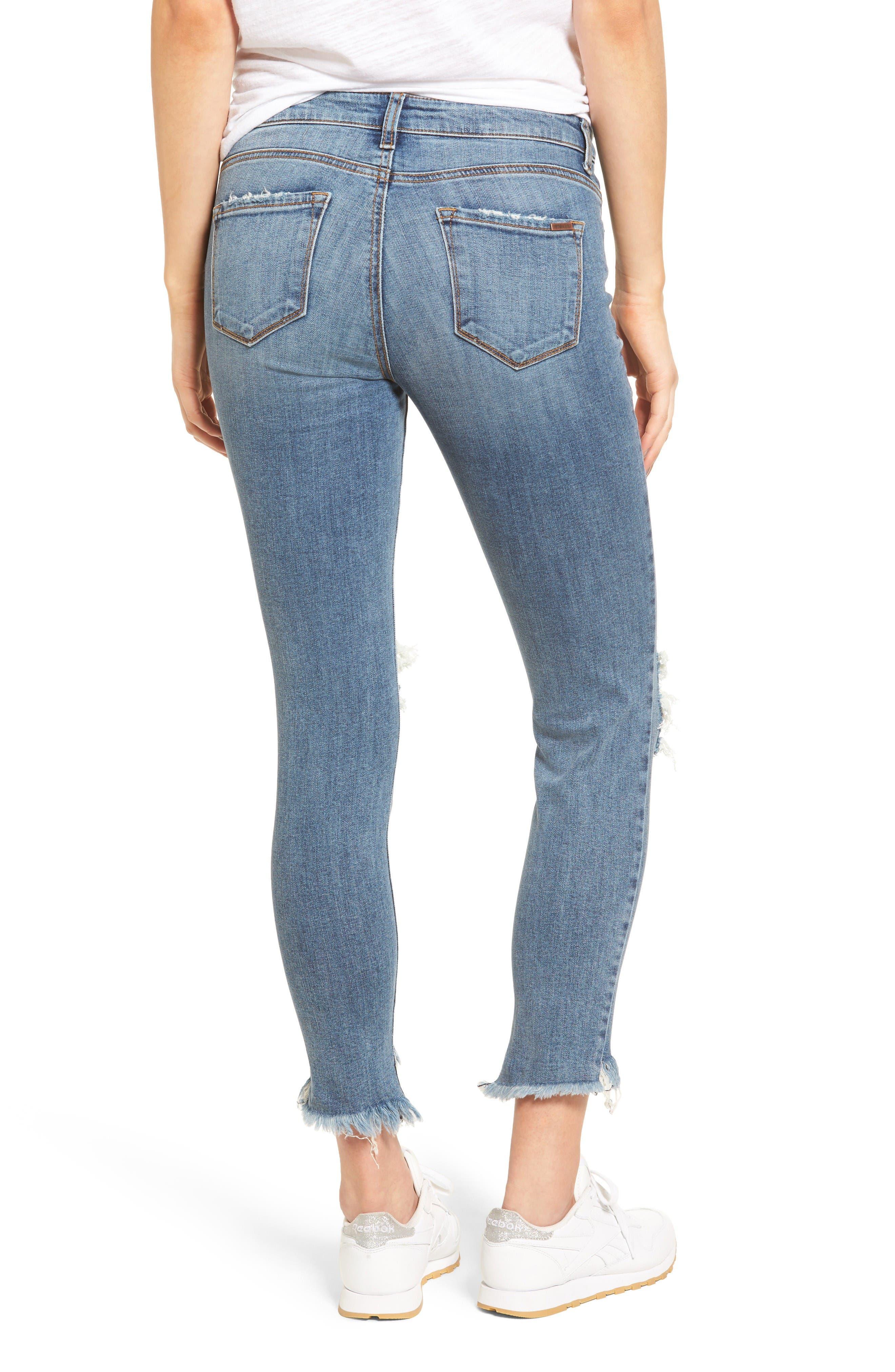 Emma Frayed Hem Skinny Jeans,                             Alternate thumbnail 2, color,                             Elings Park