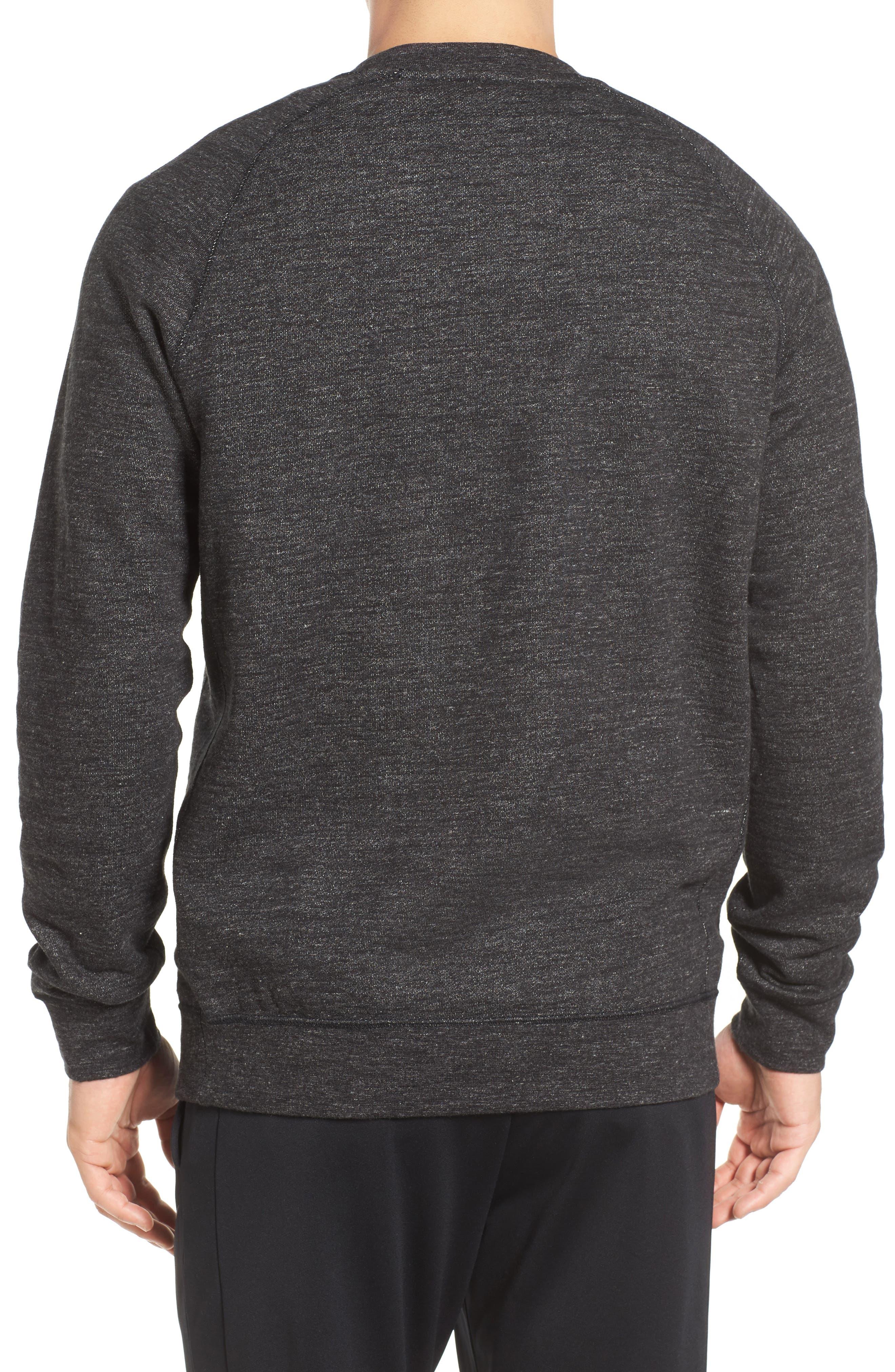 Alternate Image 2  - Nike Legacy Raglan Crewneck Sweatshirt