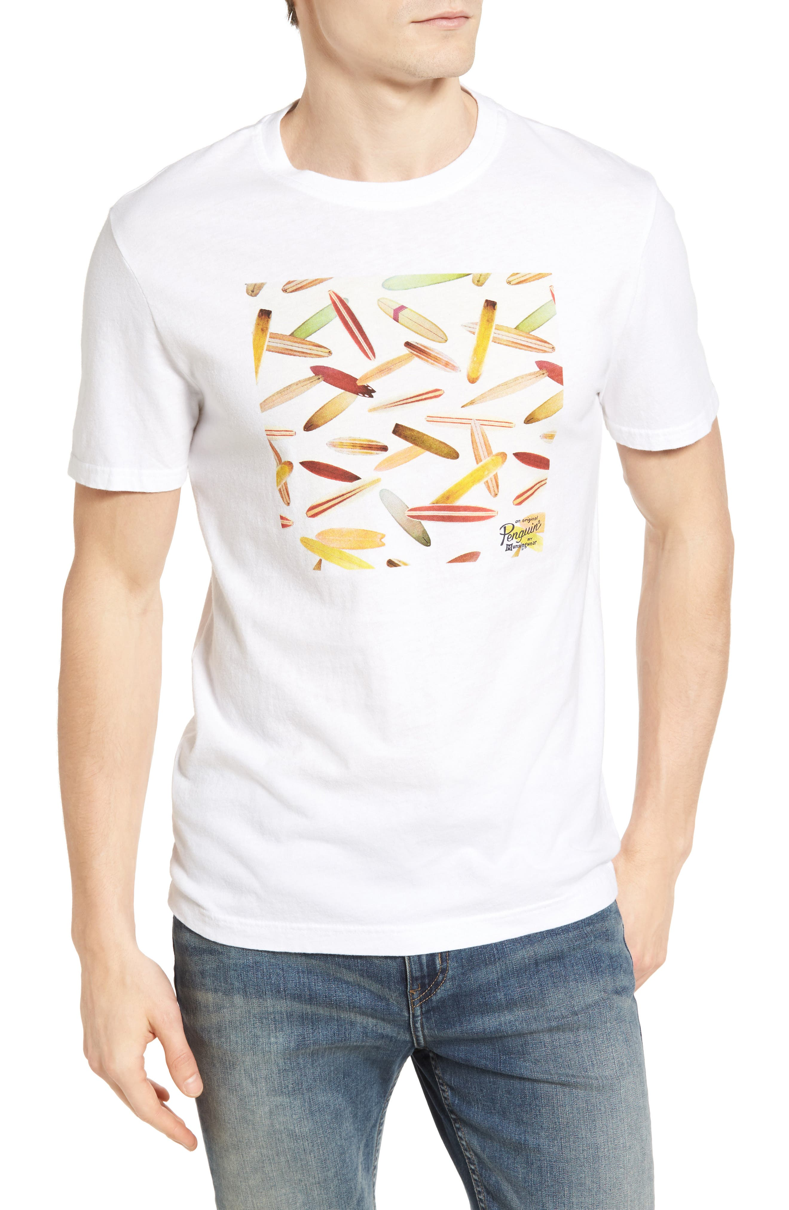 Original Penguin Heritage Surfboard Graphic T-Shirt