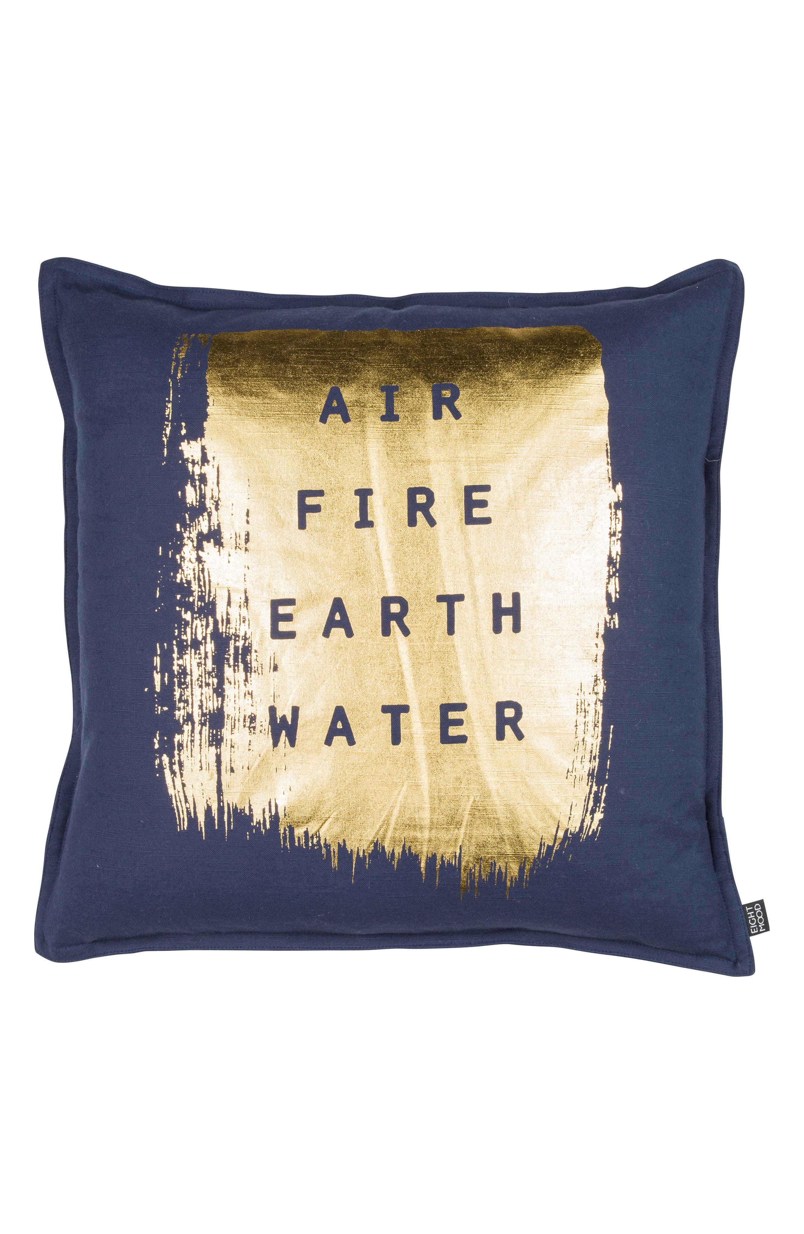 Elements Accent Pillow,                         Main,                         color, Navy/ Gold