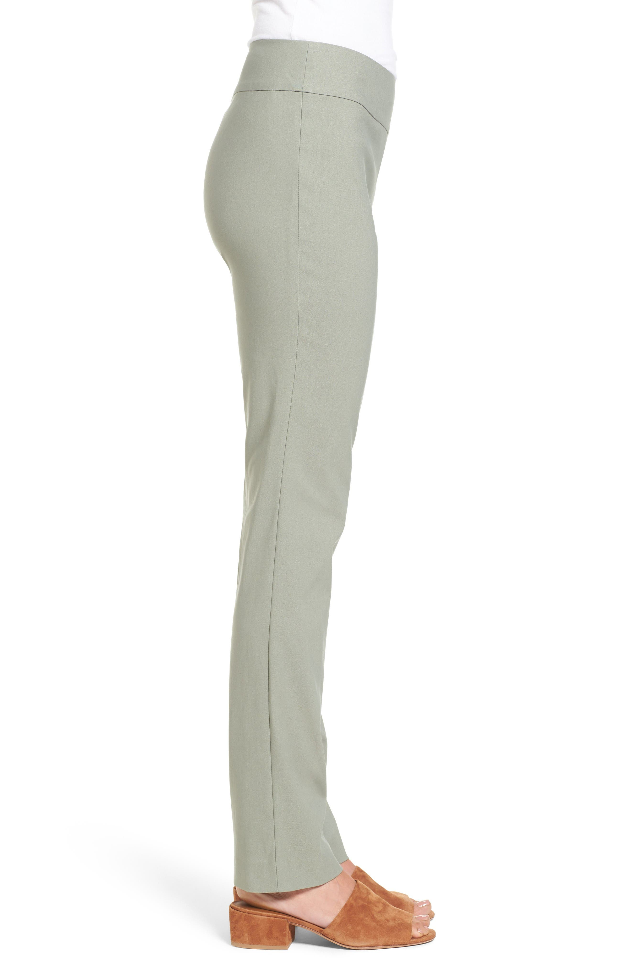 Wonder Stretch Straight Leg Pants,                             Alternate thumbnail 3, color,                             Olive Khaki