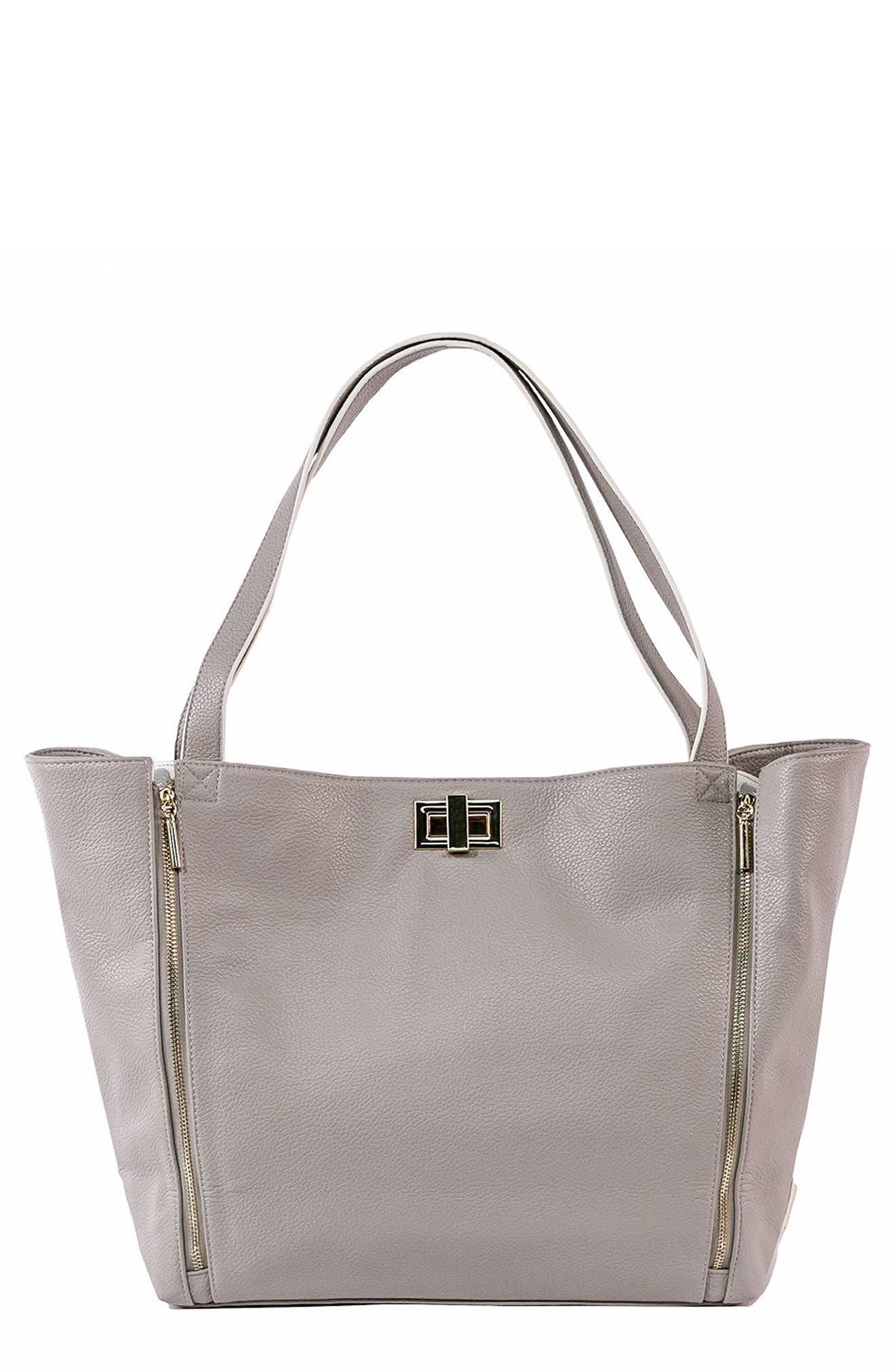 Sloane Diaper Bag,                             Main thumbnail 1, color,                             Neutral/ White