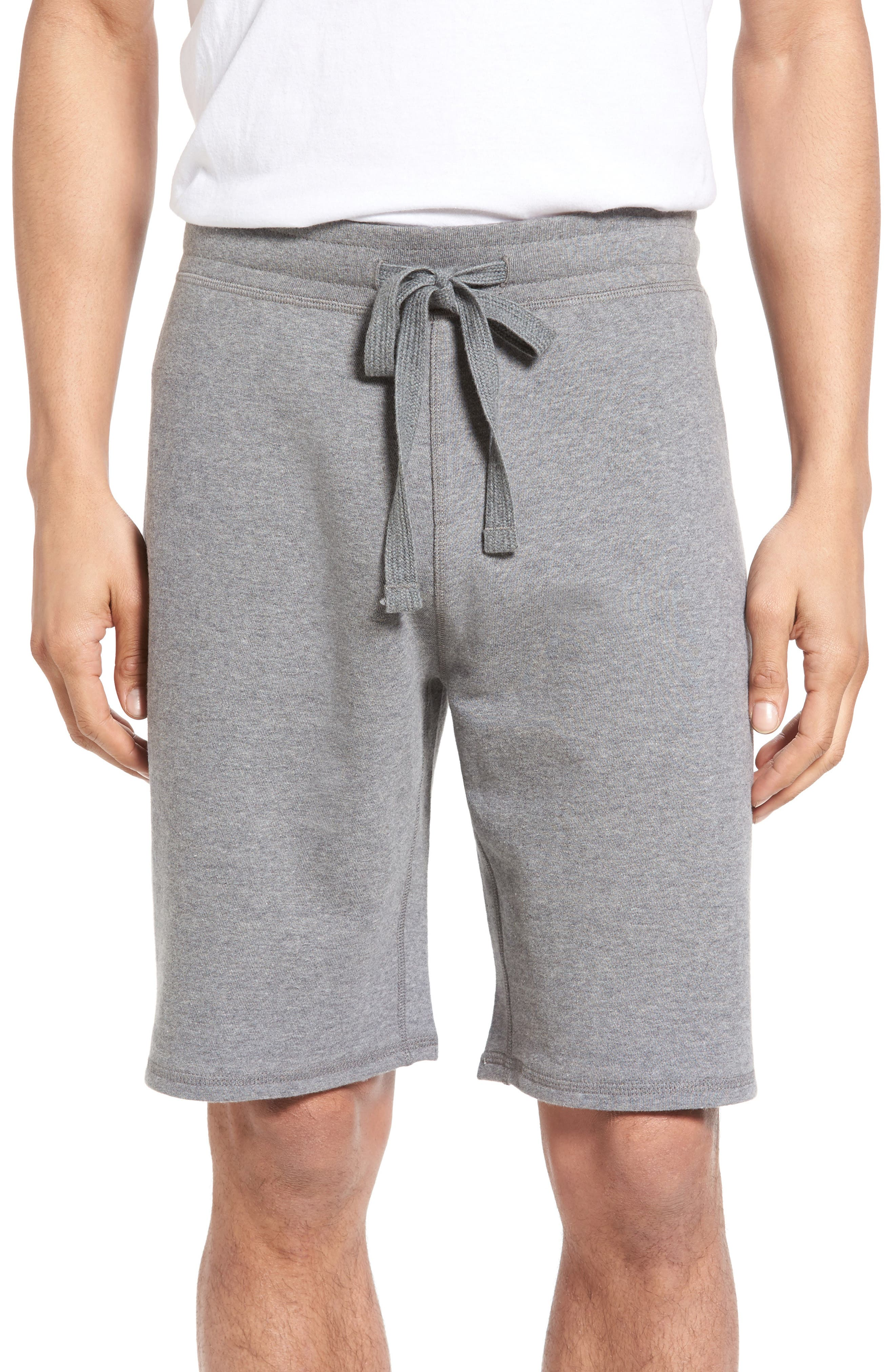 Reversible French Terry Sweat Shorts,                         Main,                         color, Grey Heatehr/ Feeder Stripe