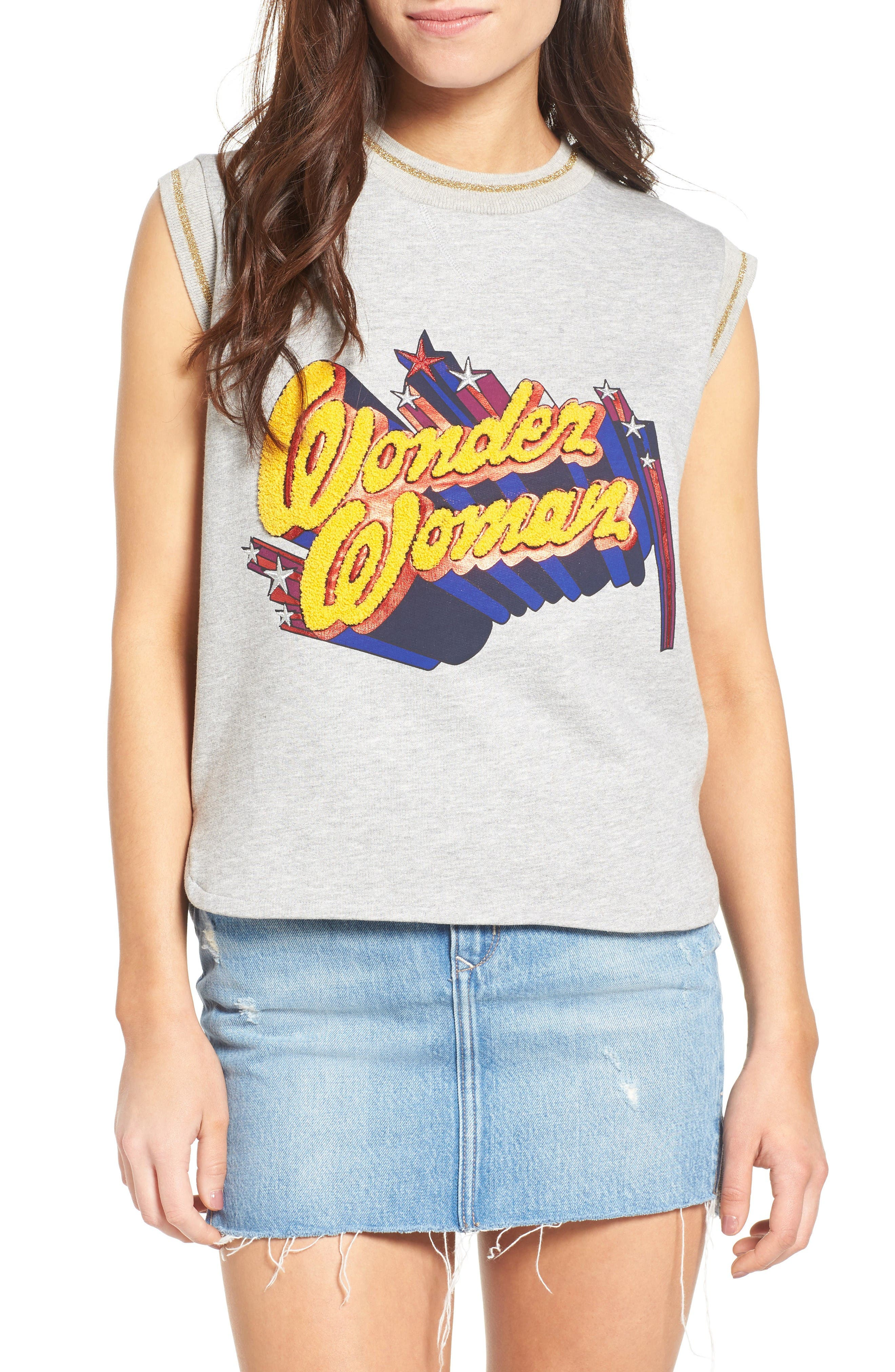 Paul & Joe Sister Wonder Woman Sleeveless Sweatshirt