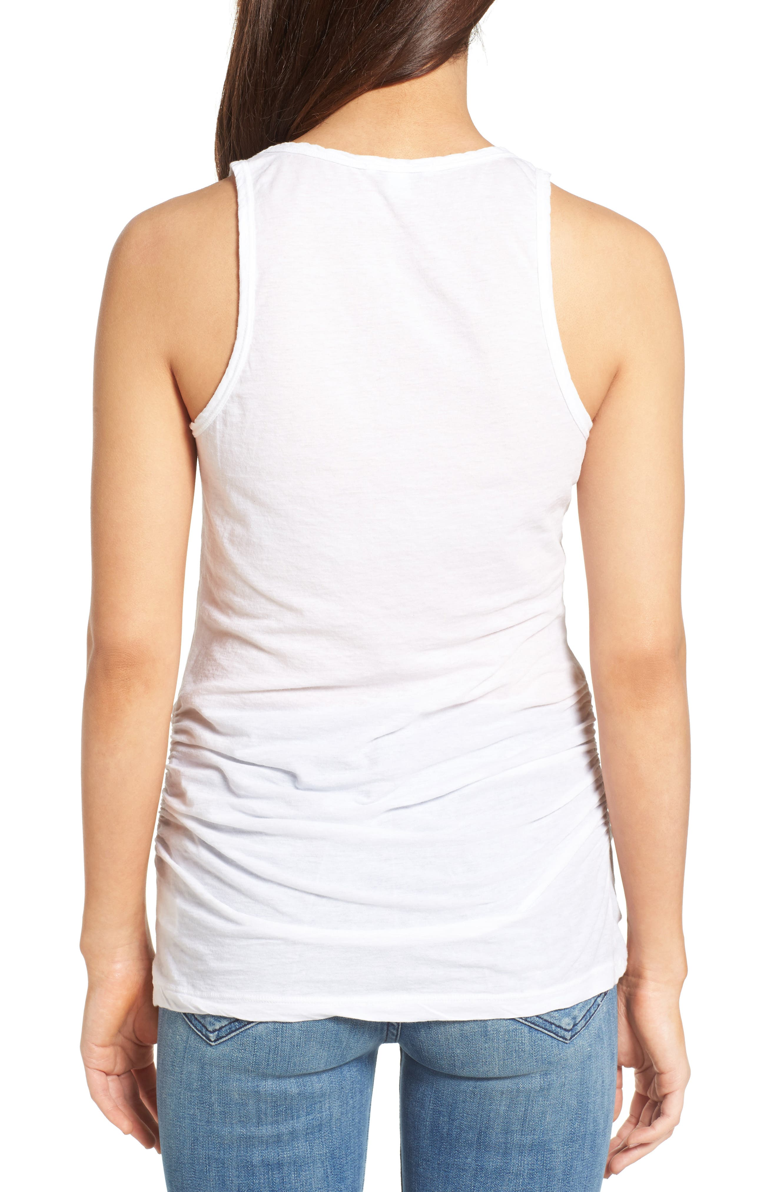Alternate Image 2  - James Perse Skinny Ruched Cotton Tank