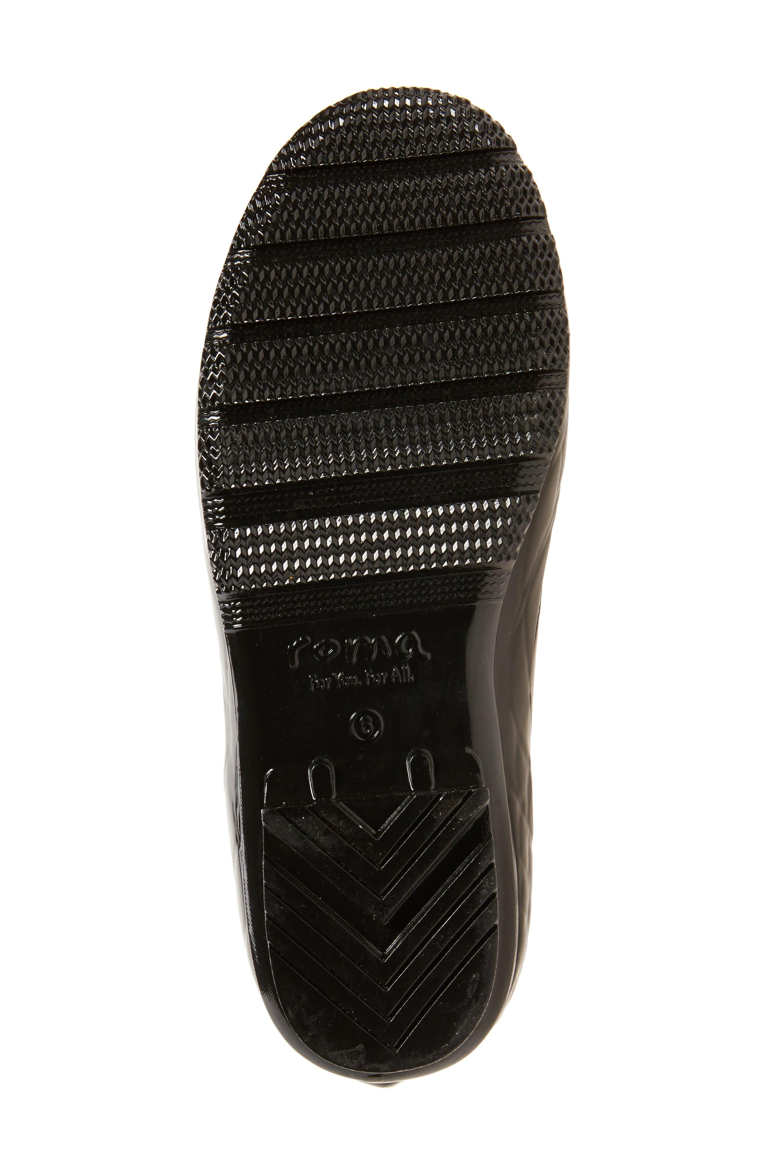 Classic Glossy Rain Boot,                             Alternate thumbnail 5, color,                             Black Croc