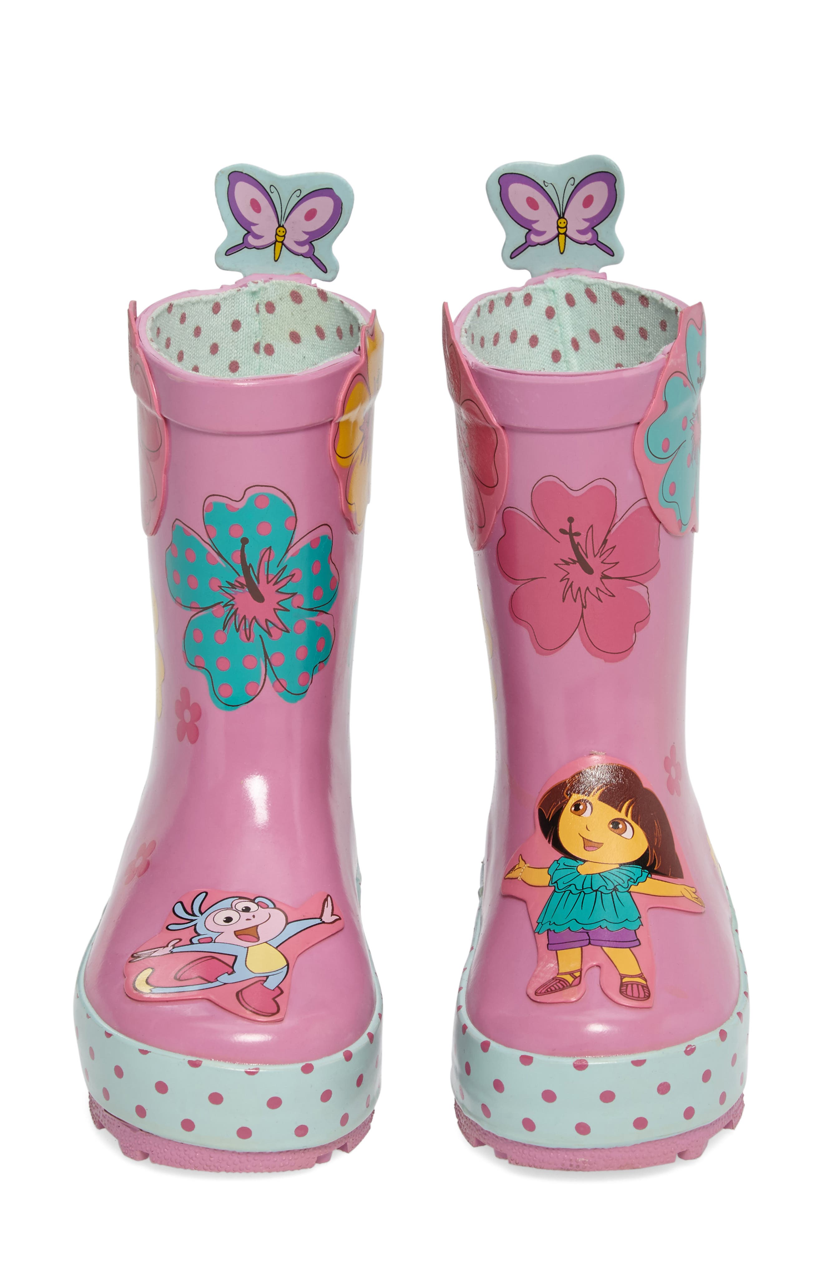 Alternate Image 1 Selected - Kidorable Dora the Explorer Rain Boot (Walker, Toddler & Little Kid)