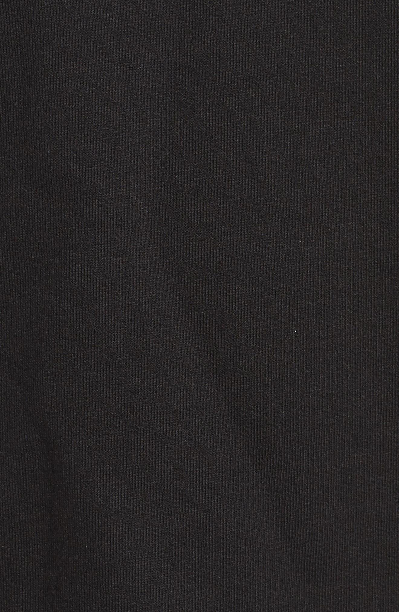 Brunette Lounge Hoodie,                             Alternate thumbnail 5, color,                             Black