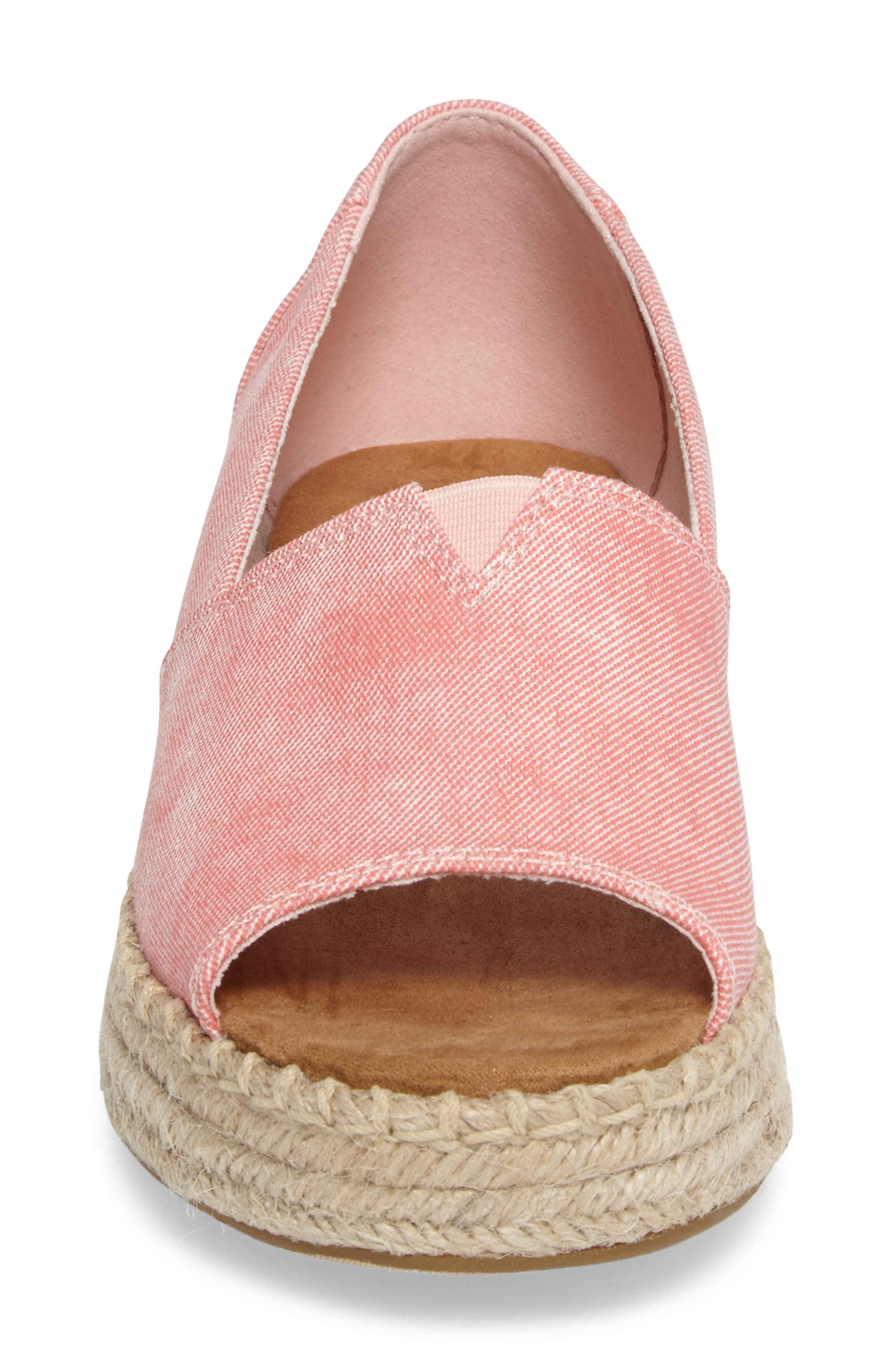 Alternate Image 4  - TOMS Open Toe Platform Espadrille (Women)
