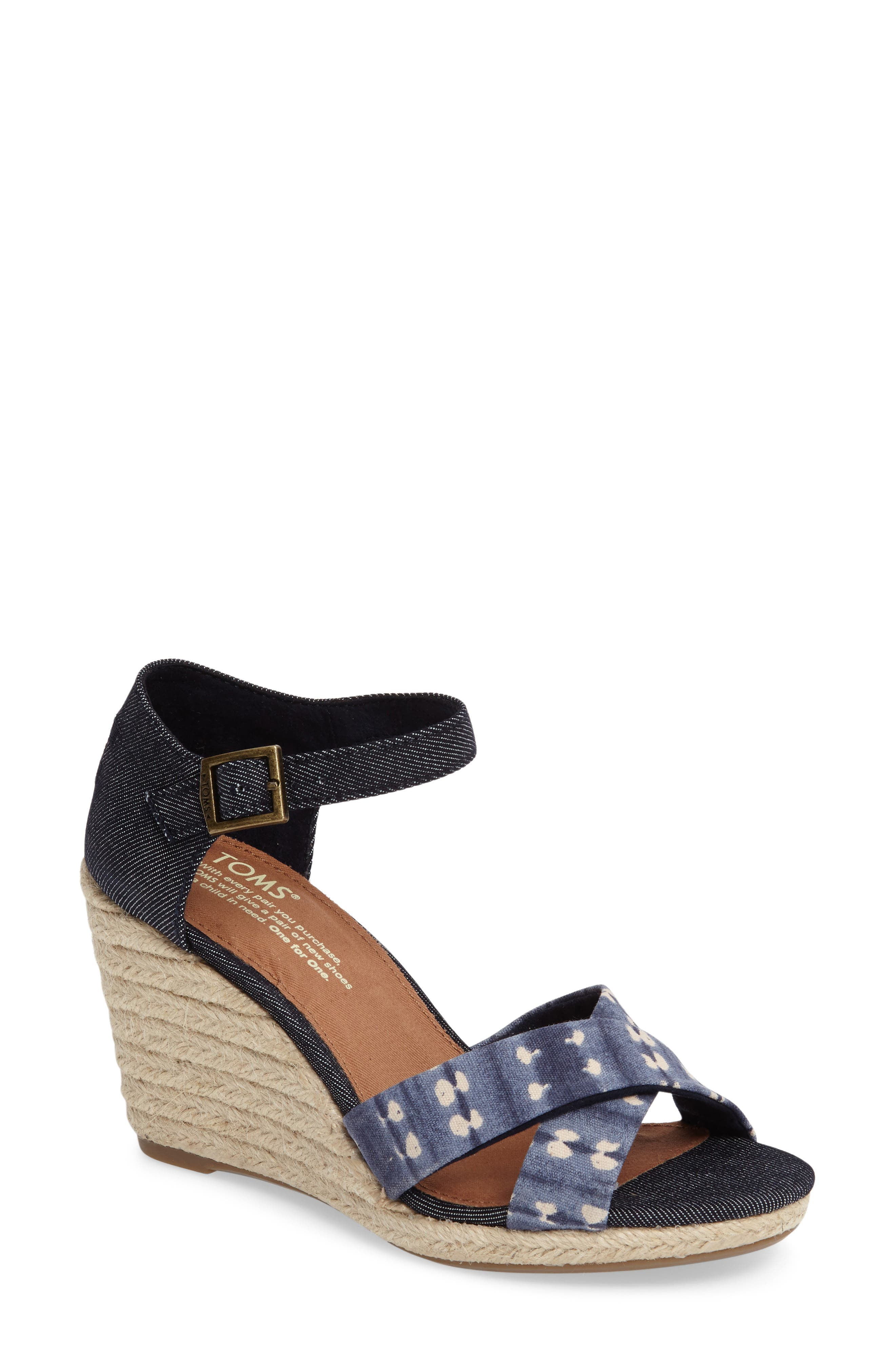 Alternate Image 1 Selected - TOMS Sienna Wedge Sandal (Women)