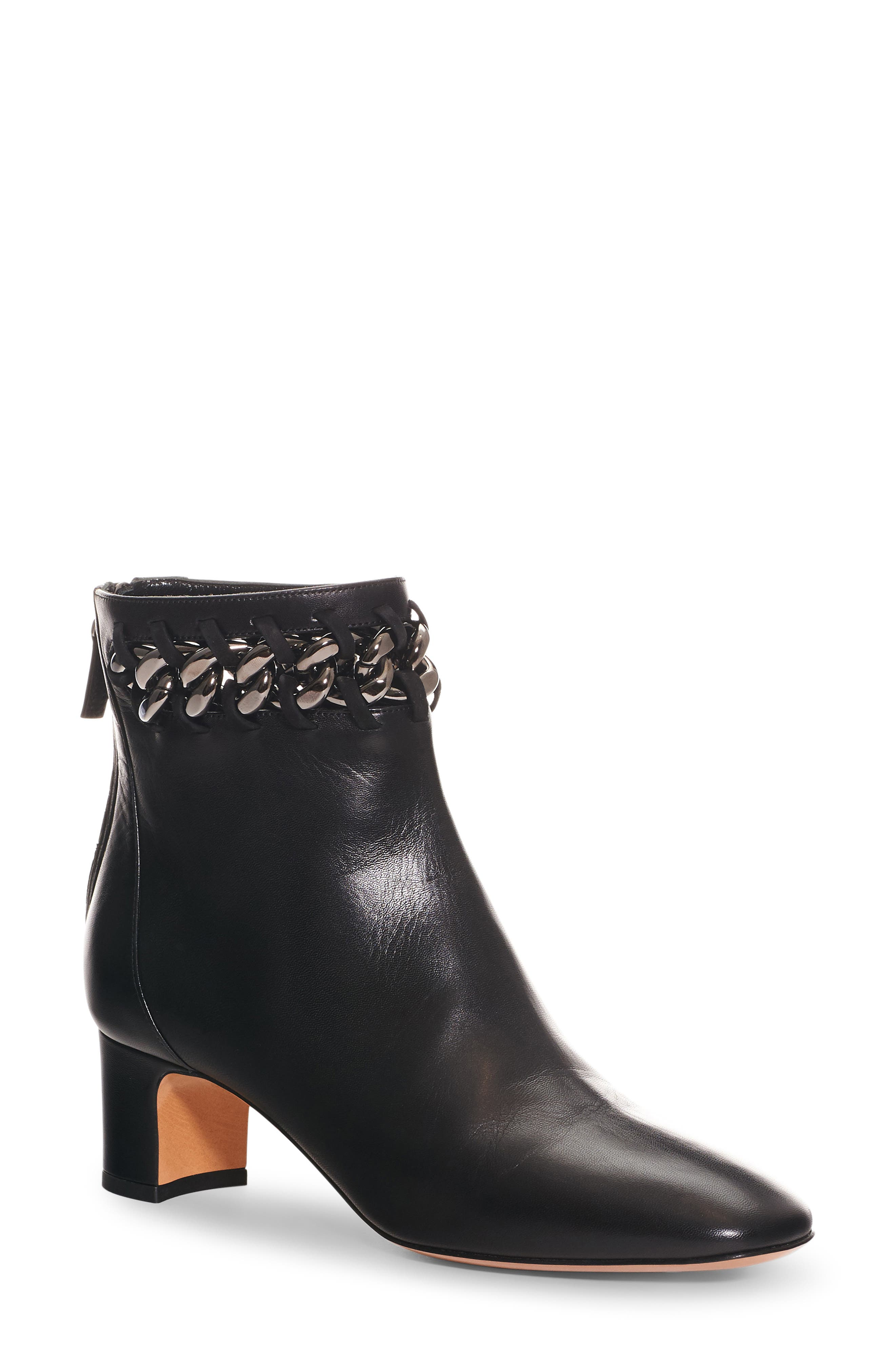 VALENTINO GARAVANI Chain Woven Bootie (Women)